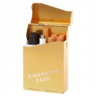 Quit Smoking USB Rechargeable Electronic Cigarette with 4-Refills - Golden (High Nicotine)