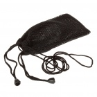 Small Mesh Nylon Pouch Bag with Strap for Cell Phone/Gadgets - Black