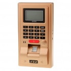 "2.7"" LCD Fingerprint Time Attendance Machine - Golden (AC 100~240V)"