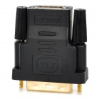 HDMI Female to DVI 24+5 Male Adapter - Black
