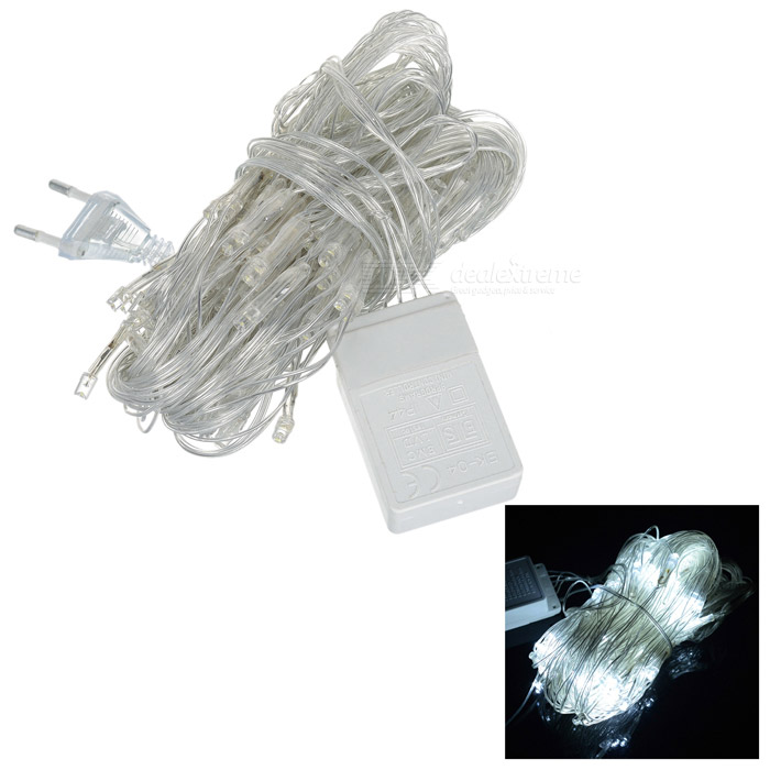 120-LED 1.4x1.3M Net Style Christmas Light (8-Mode White LED 220V AC)