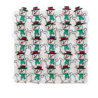 Multi-LED Flashing Christmas Snowman Badge (25-Pack)