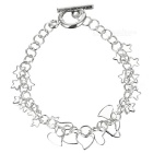 925 Sterling Silver Plated Star and Hearts Bracelet