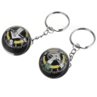 Fluid Filled Compass Keychain (2-Pack)