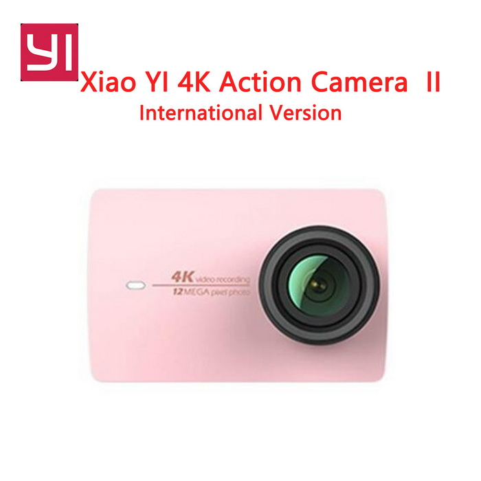 International Version Xiaomi Yi II Sports Action Camera - Rose GoldSport Cameras<br>Form  Color Rose Gold US VersionShade Of ColorPinkMaterialABSQuantity1 setImage SensorCMOSImage Sensor SizeOthers,IMX377Anti-ShakeYesFocal Distance2.68 mmFocusing RangeF = 2.68mmAperture2.8Wide Angle155DegreesEffective Pixels4kMax. Pixels4k pixelsImagesJPEGStill Image Resolution12MPVideoMP4,Others,H.264Video Resolution4kVideo Frame Rate30Audio SystemOthersCycle RecordNoISONoExposure CompensationNoSupports Card TypeTFSupports Max. Capacity64 BBuilt-in Memory / RAMNoInput InterfaceMicOutput InterfaceMicro USBLCD ScreenYesScreen TypeTFTBattery Measured Capacity 1400 mAhNominal Capacity1430 mAhBattery TypeLi-ion batteryBattery included or notYesSupported LanguagesEnglishPacking List1 * Xiaomi Yi II 4K Action camera1 * Battery 1 * Data cable20CM1 * User  manual(English)<br>