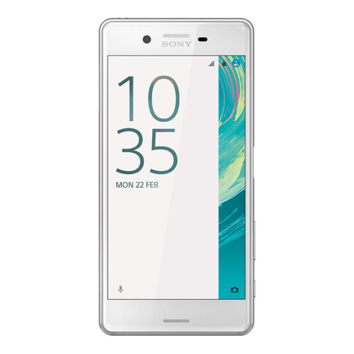 Sony Xperia X Performance F8132 DUAL SIM 64GB ROM - WhiteAndroid Phones<br>Form ColorWhiteRAM3GBROM64GBBrandSONYModelSony Xperia X Performance F8132Quantity1 DX.PCM.Model.AttributeModel.UnitMaterialmetal and glassShade Of ColorWhitePower AdapterOthers,Not specifyNetwork Type3G,4GBand DetailsGSM850, GSM900, GSM1800, GSM1900, UMTS800 (B6), UMTS850 (B5), UMTS900 (B8), UMTS1700/2100 (B4), UMTS1900 (B2), UMTS2100 (B1), UMTS800 (B19), LTE2100 (B1), LTE700 (B17), LTE700 (B29), LTE850 (B5), LTE700 (B13), LTE1700/2100 (B4), LTE1800 (B3), LTE2600 (B7), LTE1900 (B2), LTE900 (B8), LTE800 (B20), LTE700 (B12), LTE800 (B26), TD-LTE2600 (B38), LTE800 (B19), TD-LTE2500 (B41), TD-LTE2300 (B40), TD-LTE1900 (B39), LTE700 (B28)Data TransferGPRS,HSDPA,EDGE,LTE,HSUPANetwork ConversationDual-Party ConversationsWLAN Wi-Fi 802.11 a,b,g,n,acSIM Card TypeMicro SIM,Nano SIMSIM Card Quantity2Network StandbyDual Network StandbyGPSYesInfrared PortNoBluetooth VersionBluetooth V4.2Operating SystemOthers,Android 6.0.1CPU ProcessorQualcomm Snapdragon 820 MSM8996CPU Core QuantityQuad-CoreGPUAdreno 530LanguageNot specifyAvailable Memory48.6 GBMemory CardmicroSD, microSDHC, TransFlash, microSDXCSize Range5.0~5.4 inchesTouch Screen TypeYesScreen Resolution1920*1080Screen Size ( inches)5.0Camera PixelOthers,22.9 MPFront Camera Pixels12.8 DX.PCM.Model.AttributeModel.UnitFlashYesTalk Time14 DX.PCM.Model.AttributeModel.UnitStandby Time600 DX.PCM.Model.AttributeModel.UnitBattery Capacity2700 DX.PCM.Model.AttributeModel.UnitfeaturesWi-Fi,GPS,Bluetooth,NFCSensorFingerprint authentication sensorWaterproof LevelIPX8Dust-proof LevelIP6XI/O InterfaceMicro USB v2.0Reference Websites== Will this mobile phone work with a certain mobile carrier of yours? ==Packing List1 * Sony Xperia X Performance F8132 Dual SIM1 * Headset1 * USB Interface Cable1 * Charger1 * Sony documentations<br>