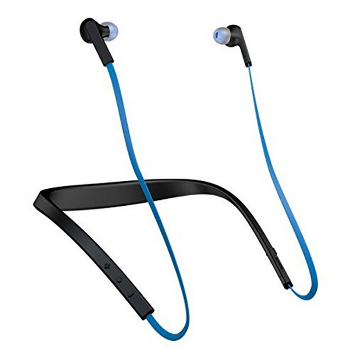 Jabra Halo Smart Wireless Bluetooth In-Ear Headset - BlueHeadphones<br>Form  ColorBlueModelJabra Halo SmartMaterialPlasticQuantity1 setShade Of ColorBlueEar CouplingIn-EarBluetooth VersionBluetooth V4.0Operating Range10meterMicrophoneYesSupports MusicYesApplicable ProductsUniversalBuilt-in Battery Capacity 230 mAhBattery TypeLi-ion batteryTalk Time17 hourMusic Play Time15 hours hourStandby Time528 hourPower AdapterOthers,Not specifyBrandOthers,JabraConnectionBluetoothHeadphone StyleIn-EarWaterproof LevelIPX0 (Not Protected)Headphone FeaturesLightweightSupport Memory CardNoSupport Apt-XNoForm  ColorBluePacking List1 * Jabra Halo Smart1 * USB cable6 * sets of extra eargels<br>