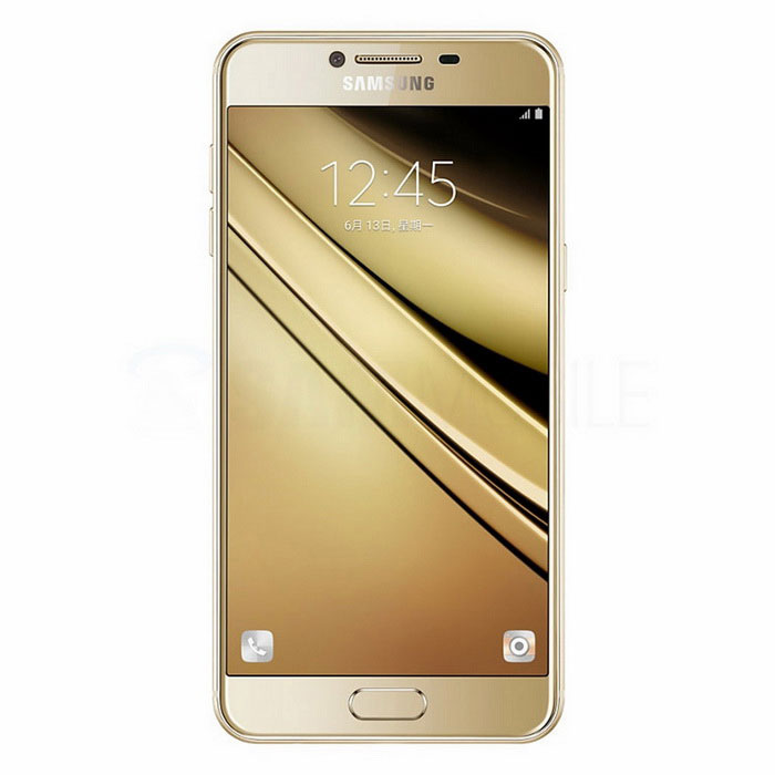 Samsung Galaxy C5 C5000 64GB ROM Dual SIM - GoldAndroid Phones<br>Form ColorGoldenRAM4GBROM64GBBrandSamsungModelSM-C5000Quantity1 DX.PCM.Model.AttributeModel.UnitMaterialMetal + GlassShade Of ColorGoldTypeBrand NewPower AdapterOthers,Not specifyNetwork Type2G,3G,4GBand DetailsGSM850, GSM900, GSM1800, GSM1900, CDMA800 (BC0), UMTS850 (B5), UMTS900 (B8), UMTS1900 (B2), UMTS2100 (B1), LTE2100 (B1), TD-SCDMA2000, TD-SCDMA1900, LTE1800 (B3), LTE2600 (B7), LTE900 (B8), TD-LTE2600 (B38), TD-LTE2500 (B41), TD-LTE2300 (B40), TD-LTE1900 (B39)Data TransferGPRS,HSDPA,EDGE,LTENetwork ConversationDual-Party ConversationsWLAN Wi-Fi 802.11 a,b,g,nSIM Card TypeMicro SIMSIM Card Quantity2Network StandbyDual Network StandbyGPSA-GPSNFCYesInfrared PortNoBluetooth VersionBluetooth V4.2Operating SystemAndroid 6.0CPU ProcessorQualcomm Snapdragon 617 MSM8952CPU Core QuantityOcta-CoreGPUAdreno 405LanguageNot specifyAvailable Memory53.6GBMemory CardmicroSDMax. Expansion Supported128Size Range5.0~5.4 inchesTouch Screen TypeYesScreen Resolution1920*1080Screen Size ( inches)Others,5.2Camera PixelOthers,16MPFront Camera Pixels8MP DX.PCM.Model.AttributeModel.UnitVideo Recording Resolution1080p@30fpsFlashYesAuto FocusYESTouch FocusYesTalk Time11 DX.PCM.Model.AttributeModel.UnitStandby Time237 DX.PCM.Model.AttributeModel.UnitBattery Capacity2600 DX.PCM.Model.AttributeModel.UnitBattery ModeNon-removablefeaturesWi-Fi,GPS,Bluetooth,OTGSensorProximity,Compass,Accelerometer,Fingerprint authentication sensorWaterproof LevelIPX0 (Not Protected)I/O InterfaceMicro USBRadio TunerFMReference Websites== Will this mobile phone work with a certain mobile carrier of yours? ==Packing List1 * Samsung Galaxy C5 C50001 * Travel Charger1 * USB Cable1 * User Manual<br>