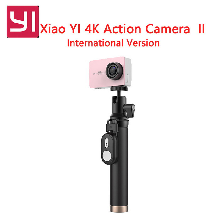 International Version Xiaomi XiaoYi II 4K 2.19 Action Camera KitSport Cameras<br>Form  ColorRose gold (with YI Travel Kit + remote)Shade Of ColorPinkMaterialABSQuantity1 setImage SensorCMOSImage Sensor SizeOthers,IMX377Anti-ShakeYesFocal Distance2.68 mmFocusing RangeF = 2.68mmAperture2.8Wide Angle155 DegreeEffective Pixels4kImagesJPEGStill Image Resolution12MPVideoMP4,Others,H.264Video Resolution4KVideo Frame Rate30Audio SystemOthers,-Cycle RecordNoISONoExposure CompensationNoSupports Card TypeTFSupports Max. Capacity64 GBBuilt-in Memory / RAMNoInput InterfaceMicOutput InterfaceMicro USBLCD ScreenYesScreen TypeTFTScreen Size2.19 inchScreen Resolution169Battery Measured Capacity 1400 mAhNominal Capacity1430 mAhBattery TypeLi-ion batteryBattery included or notYesBattery Quantity1 setSupported LanguagesEnglishPacking List1 * Xiaomi Yi II 4K Action camera1 * Bluetooth remote control1 * Selfie monopod (71cm)1 * Battery 1 * Data cable (20cm)1 * User manual (English)<br>