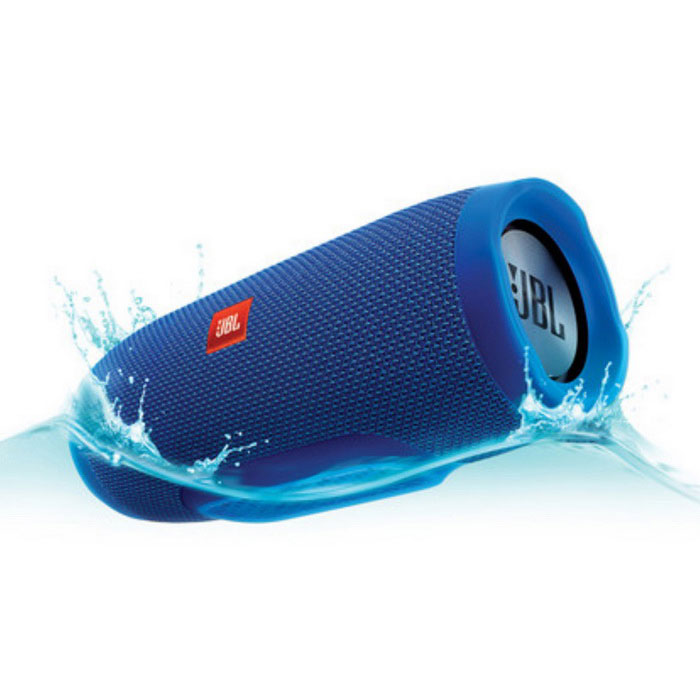 JBL Charge 3 Portable Bluetooth speaker - BlueBluetooth Speakers<br>Form ColorBlueModelJBL Charge 3MaterialPlastic + MetalQuantity1 DX.PCM.Model.AttributeModel.UnitShade Of ColorBlueBluetooth HandsfreeYesBluetooth VersionOthers,4.1Operating Range30 feetTotal Power2X10 DX.PCM.Model.AttributeModel.UnitInterface3.5mmMicrophoneYesSNRN/ASensitivityN/AFrequency Response65Hz~20kHzImpedanceN/A DX.PCM.Model.AttributeModel.UnitApplicable ProductsOthers,Apple iPod/iPhone/iPad, Android smartphone/tablet, Windows PC/Phone, Mac computer/laptopRadio TunerNoBuilt-in Battery Capacity 6000 DX.PCM.Model.AttributeModel.UnitBattery TypeLi-polymer batteryTalk Time20 DX.PCM.Model.AttributeModel.UnitStandby Time20 DX.PCM.Model.AttributeModel.UnitMusic Play Time20 HoursPower AdapterUSBPower Supply22.2WhOther FeaturesBluetooth - Wirelessly connect up to 3 smartphones or tablets to the speaker and take turns playing powerful stereo sound.<br>Built-in rechargeable Li-ion battery supports up to 20 hours of playtime and charges smartphones and tablets via USB.<br>IPX7 Waterproof<br>Take crystal clear calls from your speaker with the touch of a button thanks to the noise and echo-cancelling speakerphone.<br>Build your own ecosystem by connecting multiple JBL Connect enabled speakers together to amplify the listening experience.<br>JBL Connect App: Use the JBL Connect App (for Apple iOS 7+ or Android OS 4.3+) to wirelessly link two JBL Connect enabled speakers, like the JBL Charge 3, together for amplified sound. USB Charging (5V/2A): The JBL Charge 3 is capable of recharging the battery of your Bluetooth-enabled device from the speakers built-in USB-A (5V/2.0A) port. Now you dont need to carry an extra charger to keep your devices powered up. This USB port does not support audio playback.<br>Rechargeable Battery: The JBL Charge 3 stereo speaker has a built-in, 3.7V/6000mAh Li-ion rechargeable battery that provides more than 20 hours of playback time on a single charge. The battery is easily recharged from the speakers built-in USB port, using the included AC power adapter or a free USB port on your computer. A full battery charge takes approximately 4.5 hours. The AC power adapter can also be used to power the speaker.Packing List1 * JBL Charge 31 * 5V 2.3A USB Adapter1 * Micro USB Cable1 * Safety Sheet1 * Quick Start Guide1 * Warranty Card<br>
