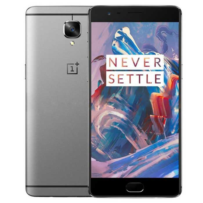 OnePlus 3 A3000 6GB RAM 64GB ROM Dual SIM 4G - GraphiteAndroid Phones<br>Form  ColorBlack + GreyRAM6GBROM64GBBrandOnePlusModelOnePlus 3 A3000Quantity1 DX.PCM.Model.AttributeModel.UnitMaterialAnodized aluminumShade Of ColorBlackTypeBrand NewPower AdapterOthers,Not SpecifyHousing Case MaterialAnodized aluminumNetwork Type2G,3G,4GBand DetailsGSM850, GSM900, GSM1800, GSM1900, CDMA800 (BC0), UMTS850 (B5), UMTS900 (B8), UMTS1700/2100 (B4), UMTS1900 (B2), UMTS2100 (B1), LTE2100 (B1), LTE700 (B17), LTE850 (B5), LTE1700/2100 (B4), LTE2600 (B7), LTE1900 (B2), LTE900 (B8), LTE700 (B12), LTE2300 (B30)Data TransferGPRS,HSDPA,EDGE,LTE,HSUPANetwork ConversationDual-Party ConversationsWLAN Wi-Fi 802.11 a,b,g,n,acSIM Card TypeNano SIMSIM Card Quantity2Network StandbyDual Network StandbyGPSA-GPSNFCYesInfrared PortNoBluetooth VersionBluetooth V4.2Operating SystemAndroid 6.0CPU ProcessorQualcomm® Snapdragon 820<br>Quad Core, Kryo: 2x 2.2 GHz, 2x 1.6 GHzCPU Core QuantityQuad-CoreGPUAdreno 530LanguageNot SpecifyAvailable Memory57GBMemory CardN/AMax. Expansion SupportedN/ASize Range5.5 inches &amp; OverTouch Screen TypeYesScreen Resolution1920*1080Screen Size ( inches)5.5Camera PixelOthers,16MPFront Camera Pixels8 MP DX.PCM.Model.AttributeModel.UnitVideo Recording Resolution4K resolution video at 30fpsFlashYesAuto FocusFixed FocusTouch FocusYesTalk Time5 DX.PCM.Model.AttributeModel.UnitStandby Time25 DX.PCM.Model.AttributeModel.UnitBattery Capacity3000 DX.PCM.Model.AttributeModel.UnitBattery ModeNon-removablefeaturesWi-Fi,GPS,Bluetooth,NFCSensorProximity,Compass,Accelerometer,Fingerprint authentication sensorWaterproof LevelIPX0 (Not Protected)I/O InterfaceMicro USB v2.0Reference Websites== Will this mobile phone work with a certain mobile carrier of yours? ==Packing List1 * OnePlus 31 * Screen Protector (pre-applied)1 * Dash Charge Type-C Cable1 * Dash Charge Adapter1 * SIM Tray Ejector1 * Quick Start Guide1 * Safety Information<br>