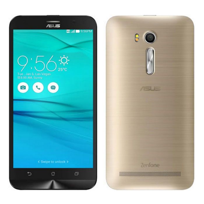 Asus Zenfone Go ZB551KL Dual SIM 16GB ROM - Sheer GoldAndroid Phones<br>Form ColorGoldenRAM2GBROM16GBBrandASUSModelZenfone Go ZB551KLQuantity1 DX.PCM.Model.AttributeModel.UnitMaterialMetalShade Of ColorGoldTypeBrand NewPower AdapterUSBHousing Case MaterialMetalNetwork Type2G,3G,4GBand Details2G : GSM :  850MHz/900MHz/1800MHz/1900MHz/850(5)/900(8)/1800(3)/1900(2)  3G : UMTS : 850MHz(5)/900MHz(8)/1900MHz(2) /2100MHz(1) WCDMA :(WW/IN version) 850MHz(5)/900MHz(8)/1900MHz(2) /2100MHz(1) WCDMA :(TW/JP version) 850MHz(5)/850MHz(6)/850MHz(19)/900MHz(8)/1900MHz(2) /2100MHz(1) TD-LTE : (TW/JP version) 2600MHz(38) 4G : FDD-LTE: (WW version) 2100MHz(1)/1900MHz(2)/1800MHz(3)/850MHz(5)/2600MHz(7)/900MHz(8)/800MHz(20) FDD-LTE: (TW/JP version) 2100MHz(1)/1800MHz(3)/850MHz(5)/850MHz(6)/2600MHz(7)/900MHz(8)/1800MHz(9)/800MHz(18)/850MHz(19)/700MHz(28) FDD-LTE: (IN version only) 2100MHz(1)/1800MHz(3)/850MHz(5) SIM1 Support2G/3G/4G  SIM2 Support2G/3G/4G / Dual SIM Dual StandData TransferLTENetwork ConversationDual-Party ConversationsWLAN Wi-Fi 802.11 b,g,nSIM Card TypeMicro SIMSIM Card Quantity2Network StandbyDual Network StandbyGPSYesNFCNoInfrared PortNoBluetooth VersionOthers,Bluetooth V4.0+EDR +A2DPOperating SystemOthers,Android 5.1(With ASUS ZenUI)*CPU ProcessorQualcomm Snapdragon 400 MSM8928 Quald Core 1.4GHzCPU Core QuantityQuad-CoreGPUAdreno 305LanguageNot SpecifyAvailable Memory14.9GBMemory CardMicroSD cardMax. Expansion Supportedup to 64 GBSize Range5.5 inches &amp; OverTouch Screen TypeYesScreen Resolution1280*720Screen Size ( inches)5.5Camera Pixel13.0MPFront Camera Pixels5 DX.PCM.Model.AttributeModel.UnitVideo Recording ResolutionH264 AVC<br>MPEG4<br>MPEG-4 ASP<br>VP8<br>VP9<br>MPEG4 up to 1080p @30fps, 720p @ 60fps<br>H.263<br>H.264<br>H.263 @ 24fps VGA<br>H.263 @ 30fps VGA<br>H.263 @ 15fps QVGA<br>H.264 Video Decode @ 720p Encode @ 1080p<br>H.264 up to 1080p at 30FPS, 720p at 60FPS <br>H.264 @HD 1080p<br>3GPFlashYesAuto FocusYesTouch FocusYesTalk Time16 DX.PCM.Model.AttributeModel.UnitStandby Time368 DX.PCM.Model.AttributeModel.UnitBattery Capacity3010 DX.PCM.Model.AttributeModel.UnitfeaturesWi-Fi,GPS,BluetoothSensorOthers,Accelerator/E-Compass/Proximity/Ambient Light Sensor/Hall SensorWaterproof LevelIPX0 (Not Protected)Dust-proof LevelNot SpecifyI/O InterfaceOthers,USB 2.0Format SupportedMP3/3GP/AAC, MPEG4/H.264/H.263/3GP/OggJAVANoRadio TunerNoReference Websites== Will this mobile phone work with a certain mobile carrier of yours? ==Packing List1 x Asus Zenfone Go Dual Sim ZB551KL 1 x USB data cable 1 x Charger Adaptor 1 x 3.5mm Wired Headset with Mic1 x User Guide<br>