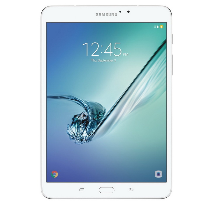 Samsung Galaxy Tab S2 T713 WiFi 8.0 inch - WhiteAndroid Tablets<br>Form ColorWhiteBrandOthers,SamsungModelT713Quantity1 DX.PCM.Model.AttributeModel.UnitMaterialMetalShade Of ColorWhiteProcessor BrandQualcommProcessor ModelOthers,Snapdragon 652Processor Speed1.8 DX.PCM.Model.AttributeModel.UnitNumber of CoresOcta-CoreGPUQualcomm Adreno 510RAM/Memory TypeOthers,Not SpecifyBuilt-in Memory / RAMOthers,3GBCapacity / ROM32GBScreen Size8.0 inchesScreen Size7.8 inches~8.9 inchesScreen TypeOthers,Super AMOLEDTouch TypeCapacitive screenResolutionOthers,2048 x 1536Touch PointOthers,Not Specify3G TypeNo3G FunctionNoOperating SystemAndroid 6.0Supported NetworkWifi,BluetoothGravity SensorOthers,Not SpecifyWi-Fi StandardOthers,802.11 a/b/g/n/ac / 2.4 GHz + 5.0 GHz, VHT80 MiMoBluetooth VersionOthers,Bluetooth 4.1MicrophoneYesBuilt-in SpeakersYesInterfaceOthers,USB Port Micro USB 2.0HDMINoUSB ChargeYesGoogle Play(Android Market)YesCamera2 x CamerasFront Camera Pixels2.1 DX.PCM.Model.AttributeModel.UnitBack Camera Pixels8.0 DX.PCM.Model.AttributeModel.UnitStorage InterfaceOthers,microSDButtonHome,Sound,PowerImagesOthers,Not SpecifyE-bookOthers,Not SpecifyVideo FormatsOthers,Not SpecifyExternal Memory Max. SupportOthers,128 DX.PCM.Model.AttributeModel.UnitMicrophone JackYesPower AdapterOthers,Not SpecifyTip DiameterOthers,Not SpecifySupported LanguagesOthers,Not SpecifyBattery Capacity4000 DX.PCM.Model.AttributeModel.UnitBattery TypeLi-ion batteryWorking Time50 DX.PCM.Model.AttributeModel.UnitStandby Time100 DX.PCM.Model.AttributeModel.UnitCharging Time190 DX.PCM.Model.AttributeModel.UnitPacking List1 x Samsung Galaxy Tab S2, 8-inch1 x Travel Adapter1 x MicroUSB Cable1 x Quick start Guide<br>