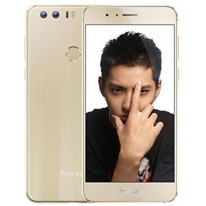 Huawei Honor 8 FRD-AL10 Dual SIM 4GB RAM 64GB ROM 4G LTE - GoldenAndroid Phones<br>Form  ColorGoldenRAM4GBROM64GBBrandHUAWEIModelHonor 8 FRD-AL10Quantity1 setMaterialMetal and GlassShade Of ColorGoldTypeBrand NewPower AdapterUSBNetwork Type3G,4GBand DetailsGSM850, GSM900, GSM1800, GSM1900, UMTS850 (B5), UMTS900 (B8), UMTS1700/2100 (B4), UMTS1900 (B2), UMTS2100 (B1), LTE2100 (B1), LTE700 (B17), LTE850 (B5), LTE1700/2100 (B4), LTE1800 (B3), LTE2600 (B7), LTE1900 (B2), LTE900 (B8), LTE800 (B20), LTE700 (B12)Data TransferGPRS,HSDPA,EDGE,LTE,HSUPANetwork ConversationDual-Party ConversationsWLAN Wi-Fi 802.11 a,b,g,n,acSIM Card TypeMicro SIM,Nano SIMSIM Card Quantity2Network StandbyDual Network StandbyGPSYesNFCYesInfrared PortYesBluetooth VersionBluetooth V4.2Operating SystemAndroid 6.0CPU ProcessorHuawei Honor KIRIN950, 2300MHzCPU Core QuantityOcta-CoreGPUMali-T880 MP4LanguageNot SpecifyAvailable Memory58GBMemory CardmicroSD (uses SIM 2 slot)Max. Expansion Supported128GBSize Range5.0~5.4 inchesTouch Screen TypeYesScreen Resolution1920*1080Screen Size ( inches)Others,5.2Camera PixelOthers,11.8 MPFront Camera Pixels8 MPVideo Recording Resolution1080p@120fpsFlashYesTalk Time16 hoursStandby Time48 hoursBattery Capacity3000 mAhBattery ModeNon-removablefeaturesWi-Fi,GPS,Bluetooth,NFCSensorProximity,Compass,Accelerometer,Fingerprint authentication sensorWaterproof LevelIPX0 (Not Protected)I/O InterfaceOthers,-JAVANoReference Websites== Will this mobile phone work with a certain mobile carrier of yours? ==Packing List1 * Huawei Honor 81 * USB Cable1 * headphones1 * Power adapter1 * Quick Start Guide<br>