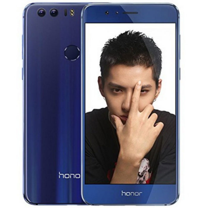 Huawei Honor 8 FRD-AL10 Dual SIM 4GB RAM 64GB ROM 4G LTE - BlueAndroid Phones<br>Form ColorBlueRAM4GBROM64GBBrandHUAWEIModelHonor 8 FRD-AL10Quantity1 DX.PCM.Model.AttributeModel.UnitMaterialMetal and GlassShade Of ColorBlueTypeBrand NewPower AdapterUSBNetwork Type3G,4GBand DetailsGSM850, GSM900, GSM1800, GSM1900, UMTS850 (B5), UMTS900 (B8), UMTS1700/2100 (B4), UMTS1900 (B2), UMTS2100 (B1), LTE2100 (B1), LTE700 (B17), LTE850 (B5), LTE1700/2100 (B4), LTE1800 (B3), LTE2600 (B7), LTE1900 (B2), LTE900 (B8), LTE800 (B20), LTE700 (B12)Data TransferGPRS,HSDPA,EDGE,LTE,HSUPANetwork ConversationDual-Party ConversationsWLAN Wi-Fi 802.11 a,b,g,n,acSIM Card TypeMicro SIM,Nano SIMSIM Card Quantity2Network StandbyDual Network StandbyGPSYesNFCYesInfrared PortYesBluetooth VersionBluetooth V4.2Operating SystemAndroid 6.0CPU ProcessorHuawei Honor KIRIN950, 2300MHzCPU Core QuantityOcta-CoreGPUMali-T880 MP4LanguageNot SpecifyAvailable Memory58GBMemory CardmicroSD (uses SIM 2 slot)Max. Expansion Supported128GBSize Range5.0~5.4 inchesTouch Screen TypeYesScreen Resolution1920*1080Screen Size ( inches)Others,5.2Camera PixelOthers,11.8 MPFront Camera Pixels8 DX.PCM.Model.AttributeModel.UnitVideo Recording Resolution1080p@120fpsFlashYesTalk Time16 DX.PCM.Model.AttributeModel.UnitStandby Time48 DX.PCM.Model.AttributeModel.UnitBattery Capacity3000 DX.PCM.Model.AttributeModel.UnitBattery ModeNon-removablefeaturesWi-Fi,GPS,Bluetooth,NFCSensorProximity,Compass,Accelerometer,Fingerprint authentication sensorWaterproof LevelIPX0 (Not Protected)I/O InterfaceOthersJAVANoReference Websites== Will this mobile phone work with a certain mobile carrier of yours? ==Packing List1 * Huawei Honor 81 * USB Cable1 * headphones1 * Power adapter1 * Quick Start Guide<br>