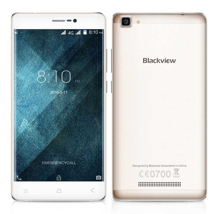 Blackview A8 Max Android 5.5 Phone 2GB RAM, 16GB ROM - Gold(SKU 852446770)
