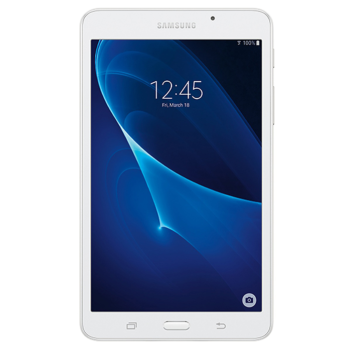 Samsung Tab A T280 7.0 Tablet w/ 1.5GB RAM, 8GB ROM, Wi-Fi - WhiteAndroid Tablets<br>Form  ColorWhiteBrandOthers,SamsungModelT280Quantity1 DX.PCM.Model.AttributeModel.UnitMaterialGlass + plasticShade Of ColorWhiteProcessor BrandSamsungProcessor ModelOthers,Qualcomm MSM8916 Snapdragon 410Processor Speed1.2GHz DX.PCM.Model.AttributeModel.UnitNumber of CoresOcta-CoreGPUAdreno 306<br>Mali-400MP2RAM/Memory TypeOthers,not specifyBuilt-in Memory / RAMOthers,1.5GBCapacity / ROM8GBScreen Size7.0 inchesScreen Size7 inches &amp; UnderScreen TypeIPSTouch TypeCapacitive screenResolution1280 x 8003G TypeNo3G FunctionNoOperating SystemAndroid 5.1Supported NetworkWifiGravity SensorOthers,not specifyWi-Fi StandardIEEE 802.11 b/g/nBluetooth VersionBluetooth V4.0MicrophoneYesBuilt-in SpeakersYesInterfaceOthers,micro USB v2.0USB ChargeYesGoogle Play(Android Market)YesCamera type2 x CamerasFront Camera Pixels5 DX.PCM.Model.AttributeModel.UnitBack Camera Pixels2 DX.PCM.Model.AttributeModel.UnitPhotoflash LampNoStorage InterfaceOthers,micro SDButtonHome,Sound,PowerImagesJPEG,JPG,PNGE-bookOthers,not specifyVideo FormatsOthersExternal Memory Max. SupportNo DX.PCM.Model.AttributeModel.UnitPower AdapterOthers,USBTip DiameterOthers,not specifySupported LanguagesOthers,not specifyBattery Capacity4000 DX.PCM.Model.AttributeModel.UnitBattery TypeLi-ion batteryWorking Time11 DX.PCM.Model.AttributeModel.UnitStandby Time300 DX.PCM.Model.AttributeModel.UnitCharging Time3 DX.PCM.Model.AttributeModel.UnitPacking List1 * Samsung T280 Tab A 7.01 * USB cable 1 * USB charger<br>