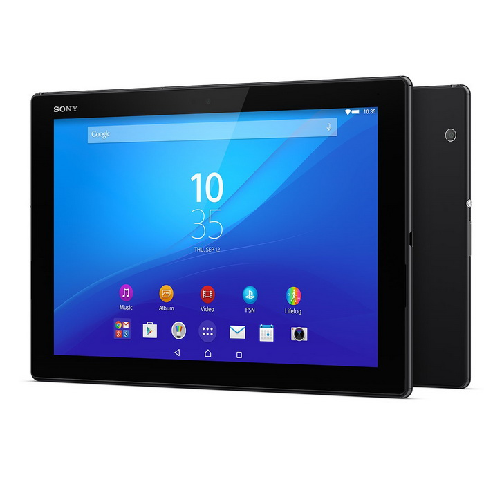 Sony Xperia Z4 SGP771 Tablet 3GB RAM 32GB ROM LTE - BlackAndroid Tablets<br>Form  ColorBlackBrandSony,SonyModelXperia Z4Quantity1 setMaterialMetalShade Of ColorBlackProcessor BrandQualcommProcessor ModelOthers,Snapdragon 810 MSM8994 v2.1Processor Speed1958.4 GHzNumber of CoresOcta-CoreGPUAdreno 430RAM/Memory TypeOthers,Not SpecifyBuilt-in Memory / RAMOthers,3GBCapacity / ROM32GBScreen Size10.1 inchesScreen Size9 inches~10.1 inchesScreen TypeLEDTouch TypeCapacitive screenResolutionOthers,2560x1600Touch Point10-point Capacitive Touch Screen3G TypeOthers,HSDPA3G Frequency Range850,900,1900,21003G FunctionNo4G standardFDD-LTEOperating SystemAndroid 6.0LTE Band Support1800 MHz,1900 MHz,2100 MHz,2600 MHz,800 MHz,850 MHz,900 MHz,TD 23002G Frequency RangeGSM 850 / 900 / 1800 / 1900Supported NetworkWifi,Built-in 3G,2G Phone Call,Bluetooth,GPS,4GGravity SensorYesWi-Fi StandardOthers,Wi-Fi 802.11 a/b/g/n/acBluetooth VersionOthers,V4.1MicrophoneYesBuilt-in SpeakersYesInterface1 x 3.5mm,1 x micro USBUSB ChargeYesGoogle Play(Android Market)YesCamera type2 x CamerasFront Camera Pixels8.1 MPBack Camera Pixels5.1 MPPhotoflash LampNoStorage InterfaceSDButtonReset,Sound,PowerImagesBMP,GIF,JPEG,JPG,PNGE-bookDOC,HTML,PDF,PDB,TXTVideo FormatsRM,RMVB,AVI,MOV,MP4,WMV,CD,VCD,DVDExternal Memory Max. SupportOthers,128 GBPower AdapterOthers,Not SpecifyTip DiameterOthers,USBSupported LanguagesEnglish,French,German,Italian,Spanish,Portuguese,Russian,Vietnamese,Polish,Greek,Danish,Norwegian,Dutch,Arabic,Turkey,Japanese,Simplified Chinese,Traditional ChineseBattery Capacity6000 mAhBattery TypeLi-polymer batteryWorking Time17 hourStandby Time270 hourCharging Time2.5 hourForm  ColorBlack (3GB RAM + 32GB ROM)Packing ListZ4 Tablet * 1USB Cable * 1USB charger *1<br>