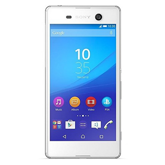 Sony Xperia M5 E5633 3GB RAM 16GB ROM Dual SIM - WhiteAndroid Phones<br>Form  ColorWhiteRAM3GBROM16GBBrandSONYModelE5633Quantity1 DX.PCM.Model.AttributeModel.UnitMaterialmetal + glassShade Of ColorWhitePower AdapterUSBNetwork Type2G,3G,4GBand DetailsGSM850, GSM900, GSM1800, GSM1900, UMTS850 (B5), UMTS900 (B8), UMTS1900 (B2), UMTS2100 (B1), LTE2100 (B1), LTE850 (B5), LTE1800 (B3), LTE2600 (B7), LTE900 (B8), LTE800 (B20)Data TransferGPRS,HSDPA,EDGE,LTE,HSUPANetwork ConversationOne-Party Conversation OnlyWLAN Wi-Fi 802.11 a,b,g,nSIM Card TypeNano SIMSIM Card Quantity2Network StandbyDual Network StandbyGPSA-GPSNFCYesBluetooth VersionBluetooth V4.1Operating SystemAndroid 5.0CPU ProcessorMediaTek MT6795 (Octa-core 2.0 GHz Cortex-A53)CPU Core QuantityOcta-CoreGPUPowerVR G6200Languagenot specifyAvailable Memory9.1GBMemory CardmicroSDMax. Expansion Supported256GBSize Range5.0~5.4 inchesTouch Screen TypeYesScreen Resolution1920*1080Screen Size ( inches)5.0Camera PixelOthers,21.2 MPFront Camera Pixels13 DX.PCM.Model.AttributeModel.UnitVideo Recording Resolution2160p@30fpsFlashYesAuto FocusYesTouch FocusYesOther Camera FeaturesGeo-tagging, face/smile detection, HDR, panoramaTalk Time11 DX.PCM.Model.AttributeModel.UnitStandby Time495 DX.PCM.Model.AttributeModel.UnitBattery Capacity2600 DX.PCM.Model.AttributeModel.UnitBattery ModeNon-removablefeaturesWi-Fi,GPS,FM,Bluetooth,NFC,OTGSensorProximity,Compass,AccelerometerWaterproof LevelIPX0 (Not Protected)I/O InterfaceMicro USB v2.0Format SupportedYesJAVANoRadio TunerFMReference Websites== Will this mobile phone work with a certain mobile carrier of yours? ==Packing List1 x phone1 x charger1 x USB cable1 x screen protector1 x user menu1 x earphone<br>
