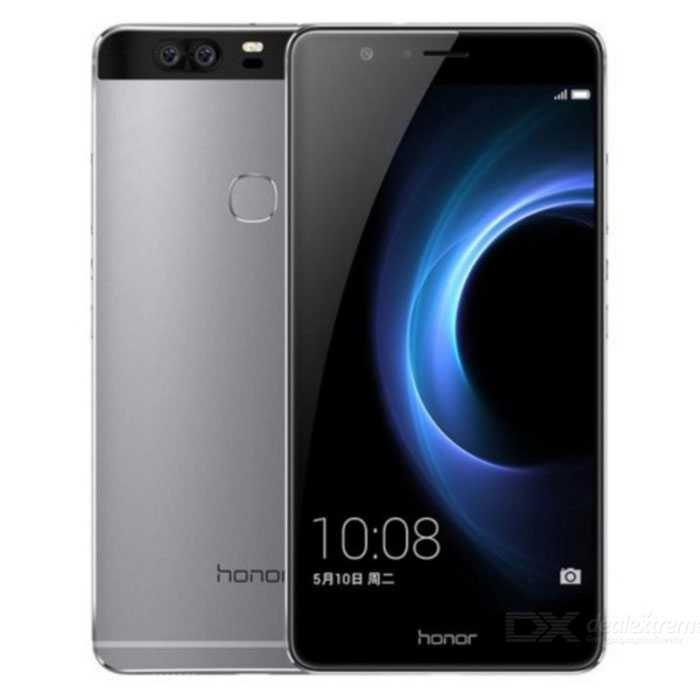 Huawei V8 AL10 Dual SIM Phone w/ 4GB RAM, 64GB ROM - GreyAndroid Phones<br>Form  ColorGreyRAM4GBROM64GBBrandHUAWEIModelV8 AL10Quantity1 DX.PCM.Model.AttributeModel.UnitMaterialMetal + glassShade Of ColorGrayPower AdapterUSBNetwork Type2G,3G,4GBand DetailsGSM850, GSM900, GSM1800, GSM1900, CDMA800 (BC0), UMTS850 (B5), UMTS900 (B8), UMTS1900 (B2), UMTS2100 (B1), LTE2100 (B1), TD-SCDMA2000, TD-SCDMA1900, LTE1700/2100 (B4), LTE1800 (B3), LTE2600 (B7), TD-LTE2500 (B41), TD-LTE2600 (B38), TD-LTE2300 (B40), TD-LTE1900 (B39)Data TransferGPRS,HSDPA,EDGE,LTE,HSUPANetwork ConversationOne-Party Conversation OnlyWLAN Wi-Fi 802.11 a,b,g,n,acSIM Card TypeNano SIMSIM Card Quantity2Network StandbyDual Network StandbyGPSYesBluetooth VersionBluetooth V4.0Operating SystemAndroid 6.0CPU ProcessorHiSilicon Kirin 950CPU Core QuantityOcta-CoreGPUMali-T880 MP4LanguageNot specifyAvailable Memory25GBMemory CardmicroSDMax. Expansion Supported128GBSize Range5.5 inches &amp; OverTouch Screen TypeYesScreen Resolution1920*1080Screen Size ( inches)5.7Camera PixelOthers,Dual 12.0 MPFront Camera Pixels8.0 DX.PCM.Model.AttributeModel.UnitVideo Recording Resolution1080p@60fpsFlashYesAuto FocusYesTouch FocusYesTalk Time25.5 DX.PCM.Model.AttributeModel.UnitStandby Time446 DX.PCM.Model.AttributeModel.UnitBattery Capacity3500 DX.PCM.Model.AttributeModel.UnitBattery ModeNon-removableQuick ChargeNofeaturesWi-Fi,GPS,FMSensorG-sensor,Compass,Fingerprint authentication sensorWaterproof LevelIPX0 (Not Protected)Shock-proofNoI/O InterfaceMicro USBFormat Supported3gp, mp4, wmv, rm, rmvb, asf, MP3, MIDI, AMR-NB, AAC, AAC+, eAAC+, AMR-WB, WMA2-9, RA, PCM, OGG, FLACJAVANoTV TunerNoRadio TunerFMWireless ChargingNoReference Websites== Will this mobile phone work with a certain mobile carrier of yours? ==Packing List1 * Honor V8 AL101 * Data cable1 * USB Charger<br>