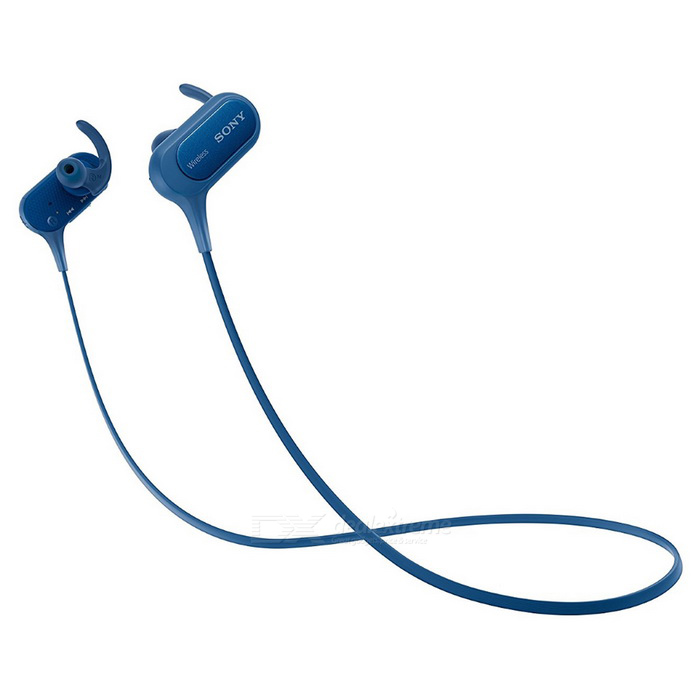 Sony MDRXB50BS Wireless In-Ear Sports Earphone - BlueHeadphones<br>Form  ColorBlueShade Of ColorBlueSupports MusicYesBrandSonyModelMDR-XB50BSMaterialPlasticQuantity1 DX.PCM.Model.AttributeModel.UnitConnectionBluetoothBluetooth VersionBluetooth V4.1Operating Range10MHeadphone StyleIn-EarWaterproof LevelIPX4Applicable ProductsUniversalHeadphone FeaturesFor Sports &amp; ExerciseSupport Memory CardNoSupport Apt-XNoFrequency Response4Hz - 24kHzBattery TypeLi-ion batteryStandby Time200 DX.PCM.Model.AttributeModel.UnitTalk Time8.5 DX.PCM.Model.AttributeModel.UnitMusic Play Time8.5 DX.PCM.Model.AttributeModel.UnitPacking List1 * MDR-XB50BS Earphone1 * USB Cable2 * Long Hybrid silicone rubber earbuds (SS, S, M, L)2 * Arc Supporters(S, M, L)<br>