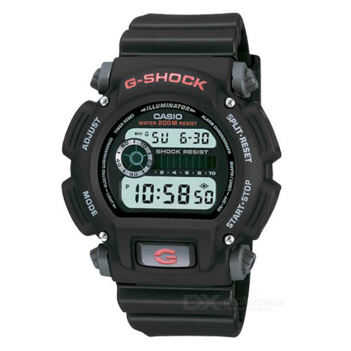 CASIO DW-9052-1VDR Shock Resistant Digital G-shock Watch (Without Box)Sport Watches<br>Form  ColorBlackModelDW-9052-1VDRQuantity1 DX.PCM.Model.AttributeModel.UnitShade Of ColorBlackCasing MaterialPlastic + MetalWristband MaterialPlasticSuitable forAdultsGenderMenStyleWrist WatchTypeFashion watchesDisplayDigitalMovementDigitalDisplay Format12/24 hour time formatWater ResistantFor daily wear. Suitable for everyday use. Wearable while water is being splashed but not under any pressure.Dial Diameter4.8 DX.PCM.Model.AttributeModel.UnitDial Thickness1.8 DX.PCM.Model.AttributeModel.UnitWristband Length23 DX.PCM.Model.AttributeModel.UnitBand Width2.1 DX.PCM.Model.AttributeModel.UnitBatteryCR2016Packing List1 * DW-9052-1VDR Watch<br>