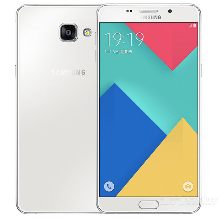 Samsung Galaxy A9 Pro SM-A9100 Dual SIM Phone 4GB RAM 32GB ROM - WhiteAndroid Phones<br>Form  ColorWhiteRAM4GBROM32GBBrandSamsungModelA9100Quantity1 pieceMaterialGlass + metalShade Of ColorWhiteTypeBrand NewPower AdapterUK PlugTime of Release2016, MarchNetwork Type2G,3G,4GBand DetailsGSM850/900/1800/1900MHz, CDMA800MHz, UMTS850/900/1900/2100MHz, LTE2100,TD-SCDMA2000/1900MHz, LTE/1800/2600/900MHz, TD-LTE/2600/2300/1900MHzData TransferGPRS,HSDPA,EDGE,LTE,HSUPAWLAN Wi-Fi 802.11 a,b,g,n,acSIM Card TypeNano SIMSIM Card Quantity2Network StandbyDual Network StandbyGPSYesNFCYesBluetooth VersionBluetooth V4.1Operating SystemOthers,Android OS, v6.0.1 (Marshmallow)CPU ProcessorQualcomm Snapdragon MSM8976 652, 2015, 64 bit, Octa-Core, 1.8GHz, 1024 Kbyte L2, 28 nmCPU Core QuantityOcta-CoreGPUQualcomm Adreno 510 GPULanguage-Available Memory25.5 GBMemory CardmicroSD, microSDHC, TransFlash, microSDXCMax. Expansion Supported256 GBSize Range5.5 inches &amp; OverTouch Screen TypeCapacitive ScreenScreen Resolution1920*1080Screen Size ( inches)6.0Screen Edge2.5D Curved EdgeCamera PixelOthers,16MPFront Camera Pixels8 MPVideo Recording Resolution1080p@30fpsFlashYesOther Camera FunctionsPrimary Camera<br>16 MP, f/1.9, autofocus, OIS, LED flash; 1/2.8 sensor size, geo-tagging, touch focus, face detection, panorama, HDR<br>Secondary Camera<br>8 MP, f/1.9, 1080pTalk Time33 hourStandby Time- hourBattery Capacity1 mAhBattery ModeNon-removableQuick ChargeUSB fast chargingfeaturesWi-Fi,GPS,FM,Bluetooth,NFCSensorOthers,Fingerprint, accelerometer, proximity, compassWaterproof LevelIPX0 (Not Protected)I/O Interface3.5mm,Micro USB v2.0,Others,TF cardJAVANoRadio TunerFMReference Websites== Will this mobile phone work with a certain mobile carrier of yours? ==Packing List1 * A9 Pro SM-A9100 mobile phone1 * Power charger1 * USB cable1 * User manual<br>