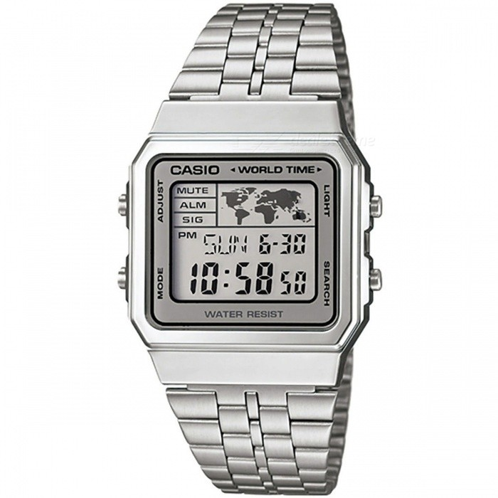 Casio A500WA-7DF Classic Digital Watch - Silver + Grey (Without Box)Quartz Watches<br>Form ColorSilver + GreyModelA500WA-7DFQuantity1 DX.PCM.Model.AttributeModel.UnitShade Of ColorSilverCasing MaterialStainless steelWristband MaterialStainless steelSuitable forAdultsGenderUnisexStyleWrist WatchTypeCasual watchesDisplayDigitalMovementQuartzDisplay Format12/24 hour time formatWater ResistantFor daily wear. Suitable for everyday use. Wearable while water is being splashed but not under any pressure.Dial Diameter3.9 DX.PCM.Model.AttributeModel.UnitDial Thickness0.96 DX.PCM.Model.AttributeModel.UnitWristband Length22 DX.PCM.Model.AttributeModel.UnitBand Width1.6 DX.PCM.Model.AttributeModel.UnitBatteryCR1616Packing List1 * A500WA-7DF<br>