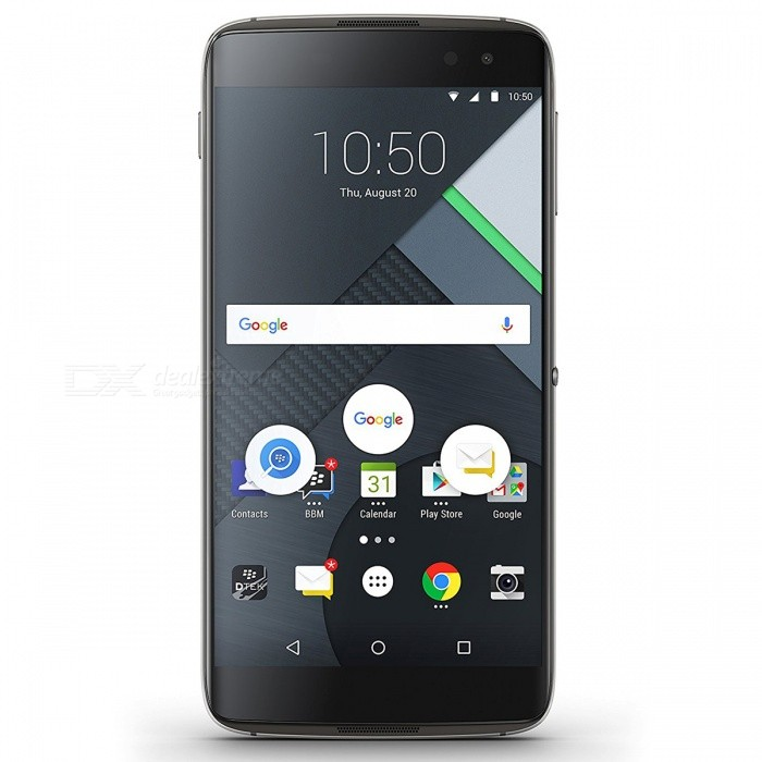 BlackBerry DTEK60 BBA100-2 Android Phone w/ 4GB RAM, 32GB ROM - BlackAndroid Phones<br>Form  ColorBlackRAM4GBROM32GBBrandOthers,BlackBerryModelBBA100-2Quantity1 pieceMaterialAluminum alloyShade Of ColorBlackTypeBrand NewPower AdapterUK PlugNetwork Type2G,3G,4GBand DetailsGSM 850MHz, GSM 900MHz, GSM 1800MHz, UMTS 800MHz (Band VI), UMTS 850MHz (Band V, CLR), UMTS 900MHz (Band VIII), UMTS 1700/2100MHz (Band IV, AWS), UMTS 1900MHz (Band II, PCS), UMTS 2100MHz (Band I, IMT), LTE 2100 MHz (Band 1), LTE 1700/2100 MHz (Band 4, AWS), LTE 850 MHz (Band 5, LTE 1800 MHz (Band 3), LTE 2600 MHz (Band 7),  LTE 1900 MHz (Band 2, PCS),  LTE 900 MHz (Band 8), LTE 800 MHz (Band 20), LTE 800 MHz (Band 19), TD-LTE 2500 MHz (Band XLI), TD-LTE 2600 MHz (Band 38), TD-LTE 2300 MHz (Band XL), LTE 700 MHz (Band 28)Data TransferGPRS,HSDPA,EDGE,LTE,HSUPAWLAN Wi-Fi 802.11 a,b,g,n,ac,Others,Wi-Fi Direct, Wi-Fi Tethering, DLNA, MiracastSIM Card TypeNano SIMSIM Card Quantity1Network StandbySingle StandbyGPSYesNFCYesBluetooth VersionBluetooth V4.2Operating SystemOthers,Android 7.0CPU Processor2150 MHz, Qualcomm Snapdragon 820 MSM8996, 2015, 64 bitCPU Core QuantityQuad-CoreGPUQualcomm Adreno 530LanguageNot specifyAvailable Memory-Memory CardMicro SDMax. Expansion Supported128GBSize Range5.5 inches &amp; OverTouch Screen TypeCapacitive ScreenScreen Resolution2560*1440MultitouchOthers,YesScreen Size ( inches)5.5Screen Edge2.5D Curved EdgeCamera PixelOthers,21.4MPFront Camera Pixels8 MPVideo Recording Resolution720p, 120fpsFlashYesAuto FocusPhase detection autofocusTouch FocusYesOther Camera FunctionsMacro mode, Electronic Image Stabilizer (EIS), Video Stabilizer (EIS), Face detection, HDR photo, Slow motion video, Panorama Photo, Face tagging, Face retouchTalk Time26 hoursStandby Time340 hoursBattery Capacity3000 mAhBattery ModeNon-removableQuick ChargeQualcomm Quick Charge 3.0featuresWi-Fi,GPS,Bluetooth,NFCSensorProximity,Compass,Accelerometer,Others,Light intensity sensor, hall sensor, fingerprint sensor, gyroscopeWaterproof LevelIPX1I/O Interface3.5mm,USB Type-c,Micro USB v2.0Format SupportedMP3/WAV/eAAC+/FlACReference Websites== Will this mobile phone work with a certain mobile carrier of yours? ==Form  ColorBlackRAM4GBROM32GBPacking List1 * Phone1 * Charger1 * USB cable1 * User manual<br>