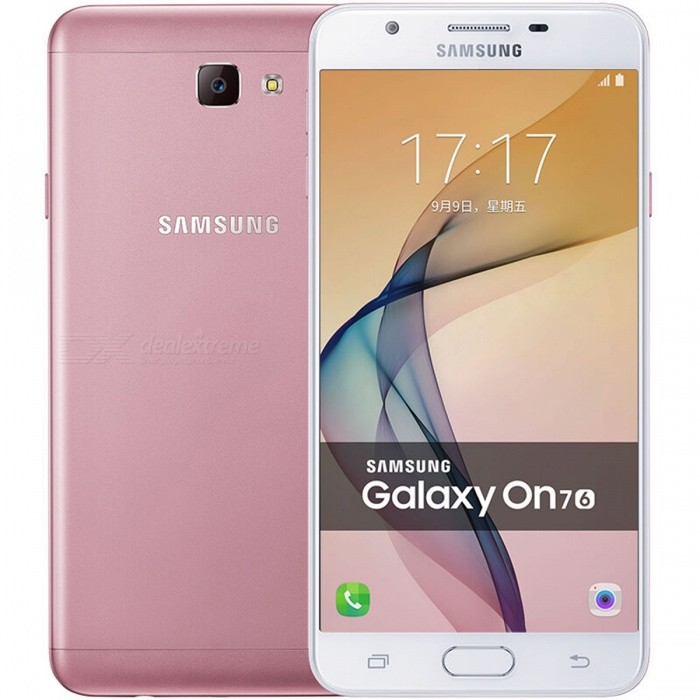 Samsung Galaxy On7 (2016) SM-G6100 Dual SIM 3GB RAM 32GB ROM - PinkAndroid Phones<br>Form  ColorPinkRAM3GBROM32GBBrandSamsungModelSM-G6100Quantity1 DX.PCM.Model.AttributeModel.UnitMaterialMetalShade Of ColorPinkTypeBrand NewPower AdapterUK PlugNetwork Type2G,3G,4GBand DetailsGSM850/900/1800/1900MHz; CDMA800MHz; UMTS850/900/1900/2100MHz; LTE2100/1800/2600/900MHz; TD-SCDMA2000/1900MHz; TD-LTE2500/2600/2300/1900MHzData TransferGPRSWLAN Wi-Fi 802.11 b,g,n,Others,Wi-Fi Direct, hotspotSIM Card Quantity2Network StandbyDual Network StandbyGPSYesNFCNoInfrared PortNoBluetooth VersionBluetooth V4.1Operating SystemOthers,Google Android 6.0.1 (Marshmallow)Google Android 6.0.1 (Marshmallow)CPU ProcessorQualcomm Snapdragon 625 MSM8953, 2016, 64 bit, Octa-Core 2.02 GHz, 14 nmCPU Core QuantityOcta-CoreGPUQualcomm Adreno 506Language-Available Memory24.7 GBMemory CardmicroSDMax. Expansion Supported256 GBSize Range5.5 inches &amp; OverTouch Screen TypeCapacitive ScreenScreen Resolution1920*1080Screen Size ( inches)5.5Camera Pixel13.0MPFront Camera Pixels8 DX.PCM.Model.AttributeModel.UnitVideo Recording Resolution1080p@30fpsFlashYesAuto FocusYesTouch FocusYesOther Camera FunctionsPrimary Camera: <br>13 MP, f/1.9, autofocus, LED flash;<br>Geo-tagging, touch focus, face detection;<br>Secondary: 8 MP, f/1.9Talk Time- DX.PCM.Model.AttributeModel.UnitStandby Time- DX.PCM.Model.AttributeModel.UnitBattery Capacity3300 DX.PCM.Model.AttributeModel.UnitBattery ModeNon-removablefeaturesWi-Fi,GPS,FM,BluetoothSensorProximity,Accelerometer,Fingerprint authentication sensor,Others,Light intensity sensor, Hall sensorWaterproof LevelIPX0 (Not Protected)I/O InterfaceMicro USB,3.5mm,Micro USB v2.0,Others,Micro SD cardFormat SupportedMIDI/MP3/AAC; 3GP/MP4; JPEGJAVANoRadio TunerFMOther Features- Fast battery charging<br>- ANT+ support<br>- MP4/H.264 player<br>- MP3/WAV/eAAC+ player<br>- Photo/video editor<br>- Document viewerReference Websites== Will this mobile phone work with a certain mobile carrier of yours? ==Packing List1 * Smartphone1 * Power adapter1 * USB charging cable1 * User manual<br>