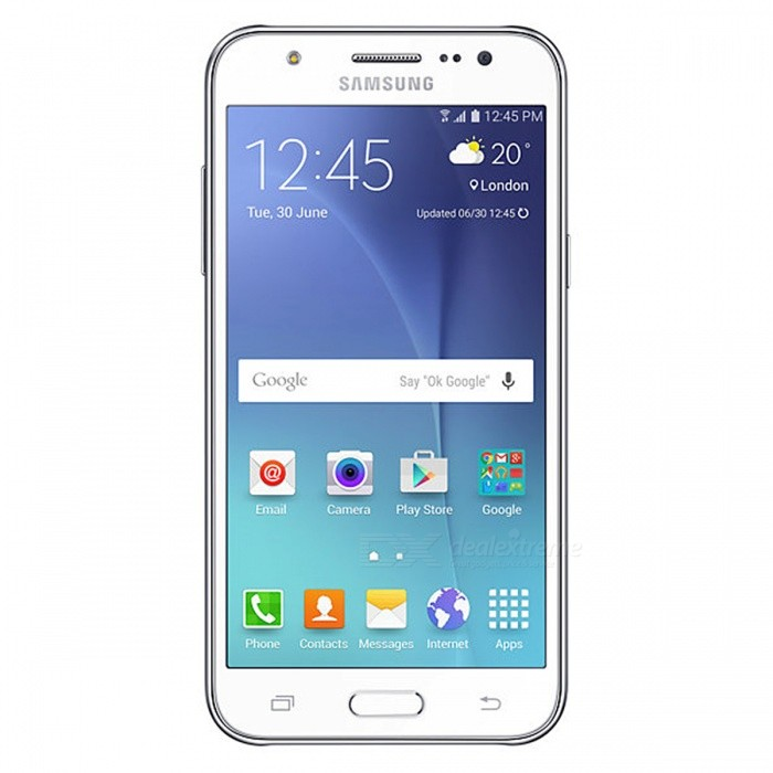 Samsung Galaxy J5 SM-J5008 Dual SIM Phone, 1.5GB RAM 16GB ROM - WhiteAndroid Phones<br>Form  ColorWhiteRAM1.5GBROM16GBBrandSamsungModelJ5008Quantity1 DX.PCM.Model.AttributeModel.UnitMaterialABSShade Of ColorWhiteTypeBrand NewPower AdapterUK PlugNetwork Type2G,3G,4GBand DetailsGSM900/1800/1900MHz; UMTS850/900/1900/2100MHz; TD-SCDMA2000/1900MHz; LTE2100/1800/2600MHz; TD-LTE2500/2600/2300/1900MHzData TransferGPRS,HSDPA,EDGE,LTE,HSUPAWLAN Wi-Fi 802.11 b,g,nSIM Card Quantity2Network StandbyDual Network StandbyGPSYesNFCYesInfrared PortNoBluetooth VersionBluetooth V4.1Operating SystemOthers,Google Android 5.1.1 (Lollipop)CPU ProcessorQualcomm Snapdragon 410 MSM8916, 2014, 64 bit, Quad-core 1.2GHz, 28 nmCPU Core QuantityQuad-CoreGPUQualcomm Adreno 306Language-Available Memory11.7GBMemory Cardmicro SDMax. Expansion Supported256GBSize Range5.0~5.4 inchesTouch Screen TypeYesScreen Resolution1920*1080Screen Size ( inches)5.0Camera Pixel13.0MPFront Camera Pixels5 DX.PCM.Model.AttributeModel.UnitVideo Recording Resolution1080p@30fpsFlashYesAuto FocusYesTouch FocusYesOther Camera FunctionsPrimarycamera<br>13 MP, f/1.9, 28mm, autofocus, LED flash;<br>Geo-tagging, touch focus, face detection;<br>Secondary<br>5 MP, f/2.2, 23mm, LED flashTalk Time18 DX.PCM.Model.AttributeModel.UnitStandby Time- DX.PCM.Model.AttributeModel.UnitBattery Capacity2600 DX.PCM.Model.AttributeModel.UnitBattery ModeReplacementfeaturesWi-Fi,GPS,FM,Bluetooth,NFCSensorProximity,Accelerometer,Others,Light sensorWaterproof LevelIPX0 (Not Protected)I/O InterfaceMicro USB,Micro USB v2.0JAVANoRadio TunerFMOther Features- HTML5<br>- ANT+ support<br>- MP4/WMV/H.264 player<br>- MP3/WAV/WMA/eAAC+/FLAC player<br>- Photo/video editor<br>- Document viewerReference Websites== Will this mobile phone work with a certain mobile carrier of yours? ==Packing List1 * Smart phone1 * Power charger1 * Micro USB cable1 * User manaul<br>