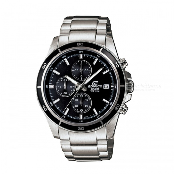 Casio Edifice EFR-526D-1AVUDF Quartz Watch - Silver/Black(Without Box)Quartz Watches<br>Form  ColorSilver White + BlackModelEFR-526D-1AVQuantity1 DX.PCM.Model.AttributeModel.UnitShade Of ColorBlackCasing MaterialStainless steelWristband MaterialStainless steelSuitable forAdultsGenderUnisexStyleWrist WatchTypeCasual watchesDisplayAnalogMovementQuartzDisplay Format12 hour formatWater ResistantWater Resistant 10 ATM or 100 m. Suitable for recreational surfing, swimming, snorkeling, sailing and water sports.Dial Diameter4.85 DX.PCM.Model.AttributeModel.UnitDial Thickness1.16 DX.PCM.Model.AttributeModel.UnitWristband Length22 DX.PCM.Model.AttributeModel.UnitBand Width2.2 DX.PCM.Model.AttributeModel.UnitBatterySR920SWPacking List1 x EFR-526D-1AV<br>