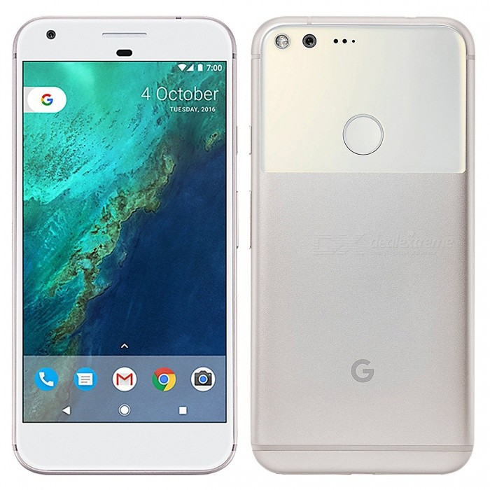 5.5 Google Pixel XL Phone w/ 4GB RAM + 128GB ROM - SilverAndroid Phones<br>Form ColorSilverRAM4GBROM128GBBrandOthers,GoogleModelPixel XLQuantity1 pieceMaterialMetal + GlassShade Of ColorSilverTypeBrand NewPower AdapterUK PlugNetwork Type2G,3G,4GBand DetailsGSM850, GSM900, GSM1800, GSM1900, CDMA800 (BC0), CDMA1900 (BC1/BC14), UMTS850 (B5), UMTS900 (B8), UMTS1700/2100 (B4), UMTS1900 (B2), UMTS2100 (B1), LTE2100 (B1), LTE700 (B17), LTE700 (B29), LTE850 (B5), LTE700 (B13), LTE1700/2100 (B4), LTE1800 (B3), LTE2600 (B7), LTE1900 (B2), LTE800 (B20), LTE1900 (B25), LTE700 (B12), CDMA800 (BC10), LTE800 (B26), TD-LTE2500 (B41), LTE700 (B28), LTE2300 (B30)Data TransferGPRS,HSDPA,LTE,HSUPAWLAN Wi-Fi 802.11 a,b,g,n,acSIM Card TypeNano SIMSIM Card Quantity1GPSYesNFCYesBluetooth VersionBluetooth V4.2Operating SystemOthers,Android 7.1CPU ProcessorQualcomm MSM8996 Snapdragon 821 (Quad-core (2x2.15 GHz Kryo &amp; 2x1.6 GHz Kryo))CPU Core QuantityQuad-CoreGPUQualcomm Adreno 530LanguageEnglish, Afrikaans, Bahasa Indonesia, Bahasa Melayu, Catala, Cestina,Dansk, Deutsch,<br> Espanol, Filipino, French, Hrvatski, IsiZulu, Italiano, Kiswahili,Latviesu, Lietuviu, <br>Magyar, Nederlands, Norsk bokmal, Portuguese, Romana,Rumantsch, Slovencina, Slovenscina, <br>Suomi, Svenska, Vietnamese, Turkish,Greek, Bulgarian, Russian, Serbian, Ukrainian, Hebrew, Urdu, <br>Arabic, Persian, Thai, Khmer, Korean, Japanese, Simplified/Traditional ChineseAvailable Memory128GBSize Range5.5 inches &amp; OverTouch Screen TypeCapacitive ScreenScreen Resolution2560*1440Screen Size ( inches)5.5Camera Pixel12.0MPFront Camera Pixels8.0 MPVideo Recording Resolution2160p@30fps, 1080p@30/60/120fps, 720p@240fpsFlashYesAuto FocusYesTouch FocusYesOther Camera Features1/2.3 sensor size, 1.55µm pixel size, geo-tagging, face detection, HDR, panoramaTalk Time32 hoursStandby Time552 hoursBattery Capacity3450 mAhBattery ModeNon-removablefeaturesWi-Fi,GPS,Bluetooth,NFC,OTGSensorG-sensor,Proximity,Compass,Accelerometer,Barometer,Fingerprint authentication sensorWaterproof LevelIPX0 (Not Protected)I/O InterfaceUSB Type-c,OTGFormat SupportedYesJAVANoReference Websites== Will this mobile phone work with a certain mobile carrier of yours? ==Packing List1 x Google Pixel XL1 x USB Charging Cable1 x Power Adapter<br>