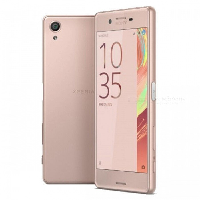 Sony Xperia X F5121 5.0 Single SIM Phone, 3GB RAM + 32GB ROM - PinkAndroid Phones<br>Form ColorPinkRAM3GBROM32GBBrandSONYModelF5121Quantity1 pieceMaterialN/AShade Of ColorPinkTypeBrand NewPower AdapterUK PlugNetwork Type2G,3G,4GBand DetailsGSM 850/900/1800/1900MHz;  UMTS 2100/1900/(1700/2100)/850/800(B6)/900/800(B19)MHz;  LTE 2100/1900/1800/(1700/2100)/850(B5)/2600/900/700(B12)/700(B17)/800(B19)/800(B20)/850  (B26)/700(B28)MHz;  TD-LTE 2600/1900/2300/2500MHz.Data TransferGPRS,HSDPA,LTE,HSUPAWLAN Wi-Fi 802.11 a,b,g,n,ac,Others,dual-band, Wi-Fi Direct, DLNA, hotspotSIM Card TypeNano SIMSIM Card Quantity1Network StandbySingle StandbyGPSYesNFCYesInfrared PortNoBluetooth VersionBluetooth V4.2,Others,A2DP, aptX, LEOperating SystemOthers,Google Android 6.0.1 (Marshmallow)CPU ProcessorQualcomm Snapdragon 618 MSM8956 / Snapdragon 650, 2015, 64 bit, Hexa-core 1.8GHz, 1024 Kbyte L2, 28 nmCPU Core QuantityHexa-CoreGPUQualcomm Adreno 510 GPULanguageN/AAvailable MemoryN/AMemory CardMicro SDMax. Expansion Supported256GBSize Range5.0~5.4 inchesTouch Screen TypeCapacitive ScreenScreen Resolution1920*1080Screen Size ( inches)5.0Camera PixelOthers,23MPFront Camera Pixels13 MPVideo Recording Resolution1080p@30fps, 1080p@60fpsFlashYesAuto FocusYesTouch FocusYesOther Camera FunctionsPrimary camera:<br>23 MP, f/2.0, 24mm, phase detection autofocus, LED flash; 1/2.3 sensor size, geo-tagging, touch focus, face detection, HDR, panorama;<br>Secondary camera:<br>13 MP, f/2.0, 22mm, 1/3 sensor size, 1080p.Talk TimeN/A hourStandby TimeN/A hourBattery Capacity2620 mAhBattery ModeNon-removablefeaturesWi-Fi,GPS,FM,Bluetooth,NFCSensorProximity,Compass,Accelerometer,Barometer,Others,Fingerprint (side-mounted), hall sensor, light sensor, step counterWaterproof LevelIPX0 (Not Protected)I/O InterfaceMicro USB,Micro USB v2.0,Others,USB HostFormat SupportedMIDI/MP3/AAC; MP4/3GP/AVC/AVI/MPEG-4; JPEG/PNG/GIF/BMPJAVANoRadio TunerFMOther Features- Fast battery charging: 60% in 30 min (Quick Charge 2.0)<br>- X