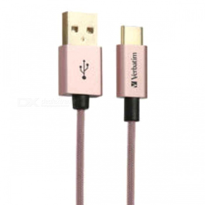 Verbatim 30cm USB Type-C to Type A 3A Cable - Rose Gold [65217]Cables<br>Form ColorGolden + Light PinkMaterialPlastic + MetalQuantity1 pieceCable Length30 cmConnectorType CPacking List1 x 30cm USB Type C cable<br>