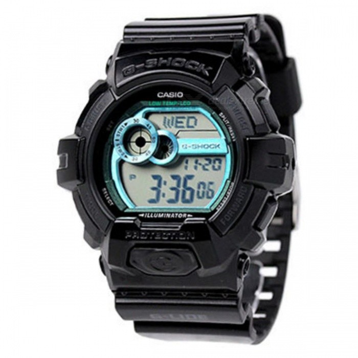 Casio G-Shock GLS-8900-1DR Adults Sport Watch - BlackSport Watches<br>Form  ColorBlackModelGLS-8900-1DRQuantity1 DX.PCM.Model.AttributeModel.UnitShade Of ColorBlackCasing MaterialResinWristband MaterialResinSuitable forAdultsGenderUnisexStyleWrist WatchTypeSports watchesDisplayDigitalMovementQuartzDisplay Format12/24 hour time formatWater ResistantOthers,200 meter water resistanceDial Diameter5.25 DX.PCM.Model.AttributeModel.UnitDial Thickness1.63 DX.PCM.Model.AttributeModel.UnitWristband Length22 DX.PCM.Model.AttributeModel.UnitBatteryCoin Cell BatteryPacking List1 x GLS-8900-1DR<br>