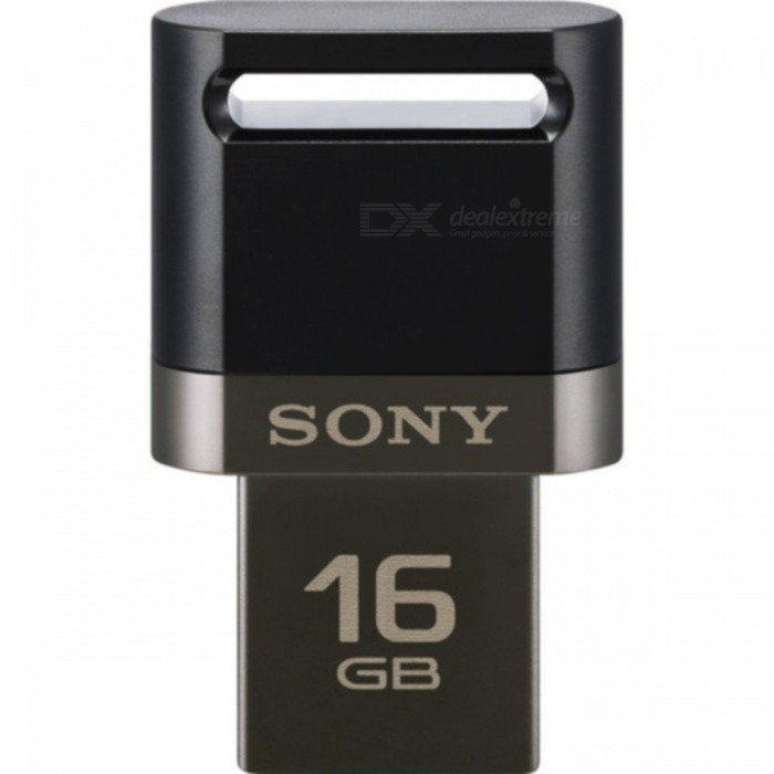 Sony OTG with USB and Micro-USB USM16SA316GB USB Flash Drives<br>Form ColorBlackCapacity16GBModelUSM16SA3MaterialPlastic + metalQuantity1 pieceShade Of ColorBlackMax Read Speed130MB/sMax Write SpeedunknownUSBUSB 3.0Other InterfaceMicro-USB PortWith IndicatorYesPacking List1 x USM16SA31 x User manual<br>