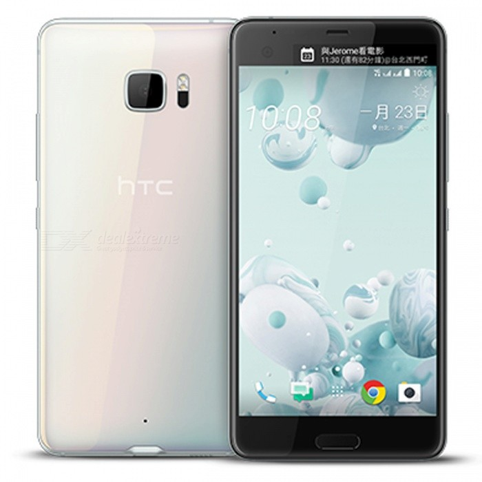 HTC U Ultra U-1u Smartphone w/ 4GB RAM, 64GB ROM - WhiteAndroid Phones<br>Form ColorWhiteRAM4GBROM64GBBrandHTCModelU-1uQuantity1 setMaterialAluminum alloyShade Of ColorWhiteTypeBrand NewPower AdapterUK PlugNetwork Type2G,3G,4GBand DetailsGSM 850 / 900 / 1800 / 1900,  UMTS850 (B5),  UMTS900 (B8), UMTS1700/2100 (B4), UMTS1900 (B2),  UMTS2100 (B1), LTE2100 (B1), LTE850 (B5), LTE1700/2100 (B4), LTE1800 (B3),  LTE2600 (B7), LTE900 (B8),LTE700 (B17), LTE800 (B20), TD-LTE2500 (B41),  TD-LTE2600 (B38),  TD-LTE2300 (B40),  LTE700 (B28)Data TransferGPRS,HSDPA,EDGE,LTE,HSUPAWLAN Wi-Fi 802.11 a,b,g,n,acSIM Card TypeNano SIMSIM Card Quantity2Network StandbyDual Network StandbyGPSYes,A-GPSNFCYesBluetooth VersionBluetooth V4.2Operating SystemOthers,Android 7.0CPU ProcessorQualcomm Snapdragon 821 MSM8996AB Pro, 2016, 64 bit, quad-core, 2150 MHzCPU Core QuantityQuad-CoreGPUQualcomm Adreno 530LanguageNot specifiedAvailable MemoryN/AMemory CardTF cardMax. Expansion Supported2TBSize Range5.5 inches &amp; OverTouch Screen TypeCapacitive ScreenScreen Resolution2560*1440Multitouch10Screen Size ( inches)Others,5.7Camera Pixel12.0MPFront Camera Pixels16 MPVideo Recording Resolution3840 x 2160 pixelFlashYesAuto FocusPD AF, Laser AFTouch FocusYesOther Camera FunctionsOIS, HDR photo, HDR video, red-eye reduction, slow motion video, macro mode, panorama photo, face detection, face retouchTalk Time26 hoursStandby Time312 hoursBattery Capacity3000 mAhBattery ModeNon-removablefeaturesWi-Fi,GPS,Bluetooth,NFCSensorProximity,Compass,Accelerometer,Fingerprint authentication sensor,Others,Hall sensor, Light sensorWaterproof LevelIPX1I/O InterfaceUSB Type-c,Others,USB 3.1Radio TunerNoReference Websites== Will this mobile phone work with a certain mobile carrier of yours? ==Packing List1 x Phone1 x Power adapter1 x Cable1 x User manual<br>