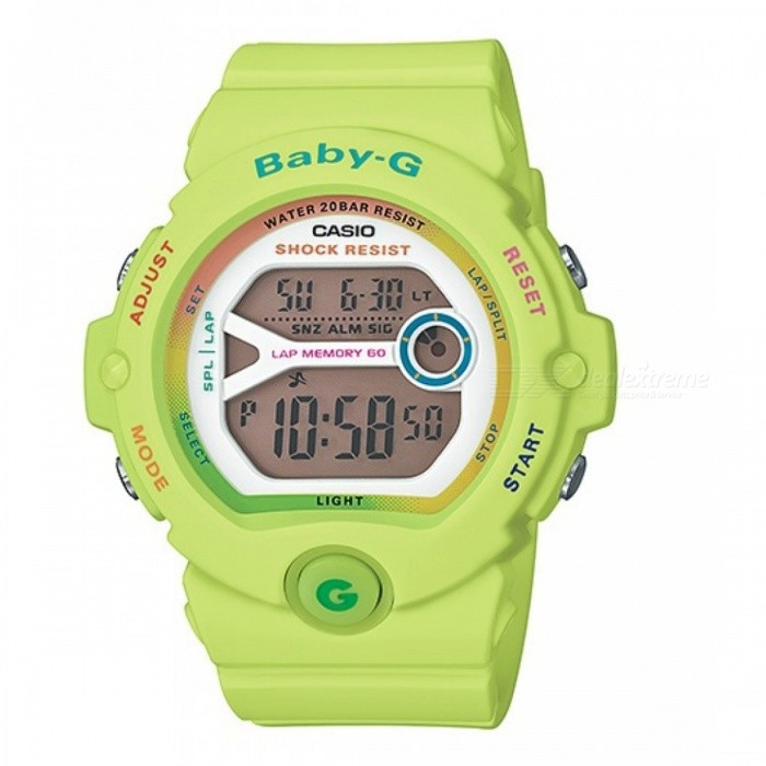 Casio Baby-G BG-6903-3DR - Lime GreenSport Watches<br>Form  ColorFluorescent YellowModelBG-6903-3DRQuantity1 DX.PCM.Model.AttributeModel.UnitShade Of ColorYellowCasing MaterialResinWristband MaterialResinDial Diameter4.5 DX.PCM.Model.AttributeModel.UnitDial Thickness1.35 DX.PCM.Model.AttributeModel.UnitWristband Length22 DX.PCM.Model.AttributeModel.UnitBand Width1.5 DX.PCM.Model.AttributeModel.UnitBatteryCoin Cell BatteryPacking List1 x BG-6903-3DR<br>