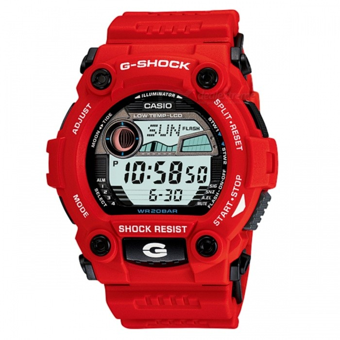 Casio G-Shock Standard Digital G-7900A-4DR Watch - RedSport Watches<br>Form  ColorRedModelG-7900A-4DRQuantity1 DX.PCM.Model.AttributeModel.UnitShade Of ColorRedCasing MaterialResinWristband MaterialResinSuitable forAdultsGenderUnisexStyleWrist WatchTypeSports watchesDisplayDigitalMovementQuartzDisplay Format12/24 hour time formatWater ResistantOthers,200 meter water resistanceDial Diameter5.0 DX.PCM.Model.AttributeModel.UnitDial Thickness1.77 DX.PCM.Model.AttributeModel.UnitWristband Length22 DX.PCM.Model.AttributeModel.UnitBand Width2.5 DX.PCM.Model.AttributeModel.UnitBatteryCoin Cell BatteryPacking List1 x G-7900A-4DR<br>