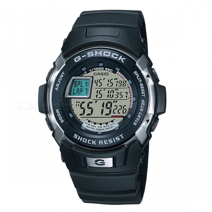 Casio G-Shock Standard Digital G-7700-1DR - BlackSport Watches<br>Form  ColorBlackModelG-7700-1DRQuantity1 DX.PCM.Model.AttributeModel.UnitShade Of ColorBlackCasing MaterialResinWristband MaterialResinSuitable forAdultsGenderUnisexStyleWrist WatchTypeSports watchesDisplayDigitalMovementQuartzDisplay Format12/24 hour time formatWater ResistantOthers,200 meter water resistanceDial Diameter4.59 DX.PCM.Model.AttributeModel.UnitDial Thickness1.46 DX.PCM.Model.AttributeModel.UnitWristband Length22 DX.PCM.Model.AttributeModel.UnitBand Width2.5 DX.PCM.Model.AttributeModel.UnitBatteryCoin Cell BatteryPacking List1 x G-7700-1DR<br>