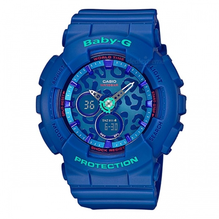Casio Baby-G Standard Analog-Digital BA-120LP-2ADR - BlueSport Watches<br>Form  ColorBlueModelBA-120LP-2ADRQuantity1 DX.PCM.Model.AttributeModel.UnitShade Of ColorBlueCasing MaterialResinWristband MaterialResinSuitable forAdultsGenderUnisexStyleWrist WatchTypeCasual watchesDisplayAnalog + DigitalMovementQuartzDisplay Format12/24 hour time formatWater ResistantWater Resistant 10 ATM or 100 m. Suitable for recreational surfing, swimming, snorkeling, sailing and water sports.Dial Diameter4.34 DX.PCM.Model.AttributeModel.UnitDial Thickness1.58 DX.PCM.Model.AttributeModel.UnitWristband Length22 DX.PCM.Model.AttributeModel.UnitBand Width2.5 DX.PCM.Model.AttributeModel.UnitBatteryCoin Cell BatteryPacking List1 x BA-120LP-2ADR<br>