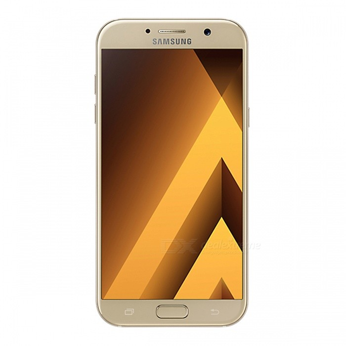 Samsung Galaxy A7 (2017) A720F/DS 5.7 Dual SIM Phone, 3+32GB - GoldenAndroid Phones<br>Form ColorGoldenRAM3GBROM32GBBrandSamsungModelSM-A720F/DSQuantity1 pieceMaterialGlassShade Of ColorGoldTypeBrand NewPower AdapterUK PlugNetwork Type2G,3G,4GBand DetailsGSM: 850/900/1800/1900MHz;  UMTS: 2100/1900/(1700/2100)/850/900MHz;  LTE: 2100/1900/1800/(1700/2100)/850/2600/900/800/700MHz; TD-LTE: 2600/2300/2500MHzData TransferGPRS,HSDPA,LTE,HSUPAWLAN Wi-Fi 802.11 a,b,g,n,ac,Others,dual-band, WiFi Direct, hotspotSIM Card TypeNano SIMSIM Card Quantity2Network StandbyDual Network StandbyGPSYes,A-GPS,BDS,GLONASSNFCYesBluetooth VersionBluetooth V4.2,Others,A2DP, EDR, LEOperating SystemOthers,Google Android 6.0.1 (Marshmallow)CPU ProcessorSamsung Exynos 7 Octa 7880, 2017, 64 bit, Octa-core 18.7GHz, 14 nmCPU Core QuantityOcta-CoreGPUARM Mali-T860 GPULanguageN/AAvailable MemoryN/AMemory CardmicroSDMax. Expansion Supported256GBSize Range5.5 inches &amp; OverTouch Screen TypeCapacitive ScreenScreen Resolution1920*1080Screen Size ( inches)5.7Camera PixelOthers,16MPFront Camera Pixels16 MPVideo Recording Resolution1080p@30fpsFlashYesAuto FocusYesTouch FocusYesOther Camera FunctionsPrimary camera: <br>16 MP, f/1.9, 27mm, autofocus, LED flash; <br>Features: Geo-tagging, touch focus, face detection, panorama, HDR; <br>Secondary camera: 16 MP, f/1.9, 1080pTalk TimeN/A hourStandby TimeN/A hourBattery Capacity3600 mAhBattery ModeNon-removablefeaturesWi-Fi,GPS,FM,Bluetooth,NFCSensorProximity,Compass,Accelerometer,Barometer,Fingerprint authentication sensor,Others,gyro, hall sensor, light sensorWaterproof LevelOthers,- IP68 certified - dust/water proof over 1.5 meter and 30 minutesI/O InterfaceSIM Slot,Others,Type-C 1.0 reversible connectorFormat SupportedMP3, AAC, WMA, AMR, M4A, MP3, OGG, WAV; MP4, 3GP, AVC, AVI, MPEG-4; JPEG, PNG, GIF, BMPJAVANoRadio TunerFMOther FeaturesFront Screen Edge: 2.5D Curved Edge; <br>Back Glass Edge: 3D Curved EdgeReference Websites== Will this mobile phone work with a certain mobile carrier of yours? ==Packing List1 x Samsung Galaxy A7 (2017) Smart Phone1 x Power adapter1 x Type-C charging cable1 x SIM tool1 x User manual<br>
