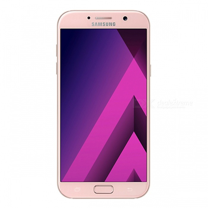Samsung Galaxy A7 (2017) A720F/DS 5.7 Dual SIM Phone w/ 3+32GB - PinkAndroid Phones<br>Form ColorPinkRAM3GBROM32GBBrandSamsungModelSM-A720F/DSQuantity1 pieceMaterialGlassShade Of ColorPinkTypeBrand NewPower AdapterUK PlugNetwork Type2G,3G,4GBand DetailsGSM: 850/900/1800/1900MHz;  UMTS: 2100/1900/(1700/2100)/850/900MHz;  LTE: 2100/1900/1800/(1700/2100)/850/2600/900/800/700MHz; TD-LTE: 2600/2300/2500MHzData TransferGPRS,HSDPA,LTE,HSUPAWLAN Wi-Fi 802.11 a,b,g,n,ac,Others,dual-band, WiFi Direct, hotspotSIM Card TypeNano SIMSIM Card Quantity2Network StandbyDual Network StandbyGPSYes,A-GPS,BDS,GLONASSNFCYesBluetooth VersionBluetooth V4.2,Others,A2DP, EDR, LEOperating SystemOthers,Google Android 6.0.1 (Marshmallow)CPU ProcessorSamsung Exynos 7 Octa 7880, 2017, 64 bit, Octa-core 18.7GHz, 14 nmCPU Core QuantityOcta-CoreGPUARM Mali-T860 GPULanguageN/AAvailable MemoryN/AMemory CardmicroSDMax. Expansion Supported256GBSize Range5.5 inches &amp; OverTouch Screen TypeCapacitive ScreenScreen Resolution1920*1080Screen Size ( inches)5.7Camera PixelOthers,16MPFront Camera Pixels16 MPVideo Recording Resolution1080p@30fpsFlashYesAuto FocusYesTouch FocusYesOther Camera FunctionsPrimary camera: <br>16 MP, f/1.9, 27mm, autofocus, LED flash; <br>Features: Geo-tagging, touch focus, face detection, panorama, HDR; <br>Secondary camera: 16 MP, f/1.9, 1080pTalk TimeN/A hourStandby TimeN/A hourBattery Capacity3600 mAhBattery ModeNon-removablefeaturesWi-Fi,GPS,FM,Bluetooth,NFCSensorProximity,Compass,Accelerometer,Barometer,Fingerprint authentication sensor,Others,gyro, hall sensor, light sensorWaterproof LevelOthers,- IP68 certified - dust/water proof over 1.5 meter and 30 minutesI/O InterfaceSIM Slot,Others,Type-C 1.0 reversible connectorFormat SupportedMP3, AAC, WMA, AMR, M4A, MP3, OGG, WAV; MP4, 3GP, AVC, AVI, MPEG-4; JPEG, PNG, GIF, BMPJAVANoRadio TunerFMOther FeaturesFront Screen Edge: 2.5D Curved Edge; <br>Back Glass Edge: 3D Curved EdgeReference Websites== Will this mobile phone work with a