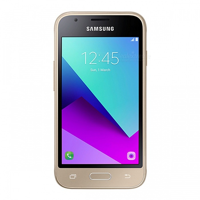 Samsung Galaxy J1 J106H/DS Mini Prime Phone w/ 1GB + 8GB - GoldenAndroid Phones<br>Form ColorGoldenRAM1GBROM8GBBrandSamsungModelJ106H/DSQuantity1 setMaterialAluminum alloyShade Of ColorGoldTypeBrand NewPower AdapterUK PlugNetwork Type2G,3G,4GBand DetailsGSM 850 / 900 / 1800 / 1900,  UMTS850 (B5),  UMTS900 (B8),  UMTS1900 (B2),  UMTS2100 (B1)Data TransferGPRS,HSDPA,EDGE,LTE,HSUPAWLAN Wi-Fi 802.11 b,g,nSIM Card TypeMicro SIMSIM Card Quantity2Network StandbyDual Network StandbyGPSYes,A-GPSBluetooth VersionBluetooth V4.0Operating SystemOthers,Android 5.1.1CPU ProcessorSpreadtrum SC8830A, 2014, 32 bit, quad-core, 32 Kbyte I-Cache, 32 Kbyte D-Cache, 512 Kbyte L2, 40nm, 1200MHzCPU Core QuantityQuad-CoreGPUARM Mali-400MPLanguageNot specifiedAvailable MemoryN/AMemory CardTFMax. Expansion Supported256GBSize Range4.0~4.4 inchesTouch Screen TypeCapacitive ScreenScreen Resolution800*480MultitouchOthers,YesScreen Size ( inches)Others,4Camera Pixel5.0MPFront Camera Pixels0.3 MPVideo Recording Resolution1280 x 720 pixelFlashYesOther Camera FunctionsPanorama Photo, Face detection, Geo-taggingTalk Time8 hoursStandby TimeN/A hourBattery Capacity1500 mAhBattery ModeReplacementfeaturesWi-Fi,GPS,FM,BluetoothSensorCompass,AccelerometerWaterproof LevelIPX1I/O Interface3.5mm,Micro USB v2.0Radio TunerFMReference Websites== Will this mobile phone work with a certain mobile carrier of yours? ==Packing List1 x Phone1 x Power adapter1 x Cable1 x User manual<br>