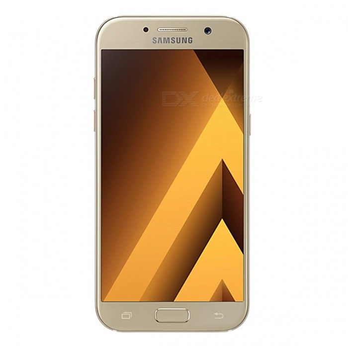 Samsung Galaxy A5 (2017) A520F/DS Phone w/ 3GB RAM 32GB ROM - GoldenAndroid Phones<br>Form ColorGoldenRAM3GBROM32GBBrandSamsungModelA520F/DSQuantity1 setMaterialAluminium alloyShade Of ColorGoldTypeBrand NewPower AdapterUK PlugHousing Case MaterialAluminium alloyTime of Release2017Network Type2G,3G,4GBand DetailsGSM850/900/1800/1900;  UMTS2100 (B1), UMTS1900 (B2), UMTS850 (B5), UMTS900 (B8); LTE2100 (B1),  LTE1800 (B3),  LTE1700/2100 (B4), LTE850 (B5), LTE2600 (B7), LTE900 (B8),  LTE700 (B17), LTE800 (B20), LTE700 (B28), TD-LTE2600 (B38), TD-LTE2300 (B40), TD-LTE2500 (B41)Data TransferGPRS,HSDPA,EDGE,LTE,HSUPAWLAN Wi-Fi 802.11 a,b,g,n,acSIM Card TypeNano SIMSIM Card Quantity2Network StandbyDual Network StandbyGPSYes,A-GPSNFCYesBluetooth VersionBluetooth V4.2Operating SystemOthers,Google Android 6.0.1 (Marshmallow)CPU ProcessorSamsung Exynos 7 Octa 7880, 2017, 64 bit, octa-core, 14 nm, ARM Mali-T860 GPUCPU Core QuantityOcta-CoreGPUARM Mali-T860MP4LanguageNot SpecifyAvailable Memory32GBMemory CardmicroSDSize Range5.0~5.4 inchesTouch Screen TypeAMOLEDScreen Resolution1920*1080MultitouchOthers,YesScreen Size ( inches)Others,5.2Camera PixelOthers,16.0MPFront Camera Pixels16 MPVideo Recording Resolution1920x1080 pixel; 30 fpsFlashYesAuto FocusCD AFTouch FocusYesOther Camera FunctionsEIS, HDR photo, HDR video, Red-eye reduction, Slow motion video,Touch focus, Macro mode,Panorama Photo, Face detection, Face tagging, Smile detection, Face retouchTalk Time17 hoursStandby TimeN/A hourBattery Capacity3000 mAhBattery ModeNon-removablefeaturesWi-Fi,GPS,Bluetooth,NFC,OTGSensorG-sensor,Proximity,Compass,Accelerometer,Barometer,Fingerprint authentication sensor,Others,Hall sensor, Light sensorWaterproof LevelIPX0 (Not Protected)I/O InterfaceUSB Type-c,OTGJAVANoTV TunerNoReference Websites== Will this mobile phone work with a certain mobile carrier of yours? ==Packing List1 x Cell Phone1 x Power Adapter1 x USB Charging Cable1 x User Manual<br>