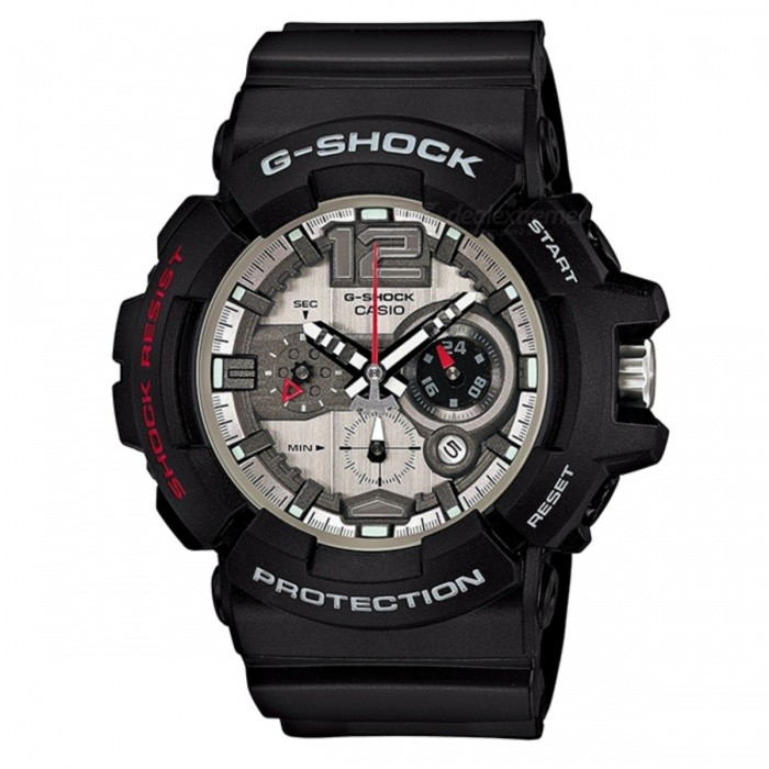 Casio G-Shock GAC-110-1ADRSport Watches<br>Form  ColorBlackModelGAC-110-1ADRQuantity1 DX.PCM.Model.AttributeModel.UnitShade Of ColorBlackCasing MaterialResinWristband MaterialResinSuitable forAdultsGenderUnisexStyleWrist WatchTypeCasual watchesDisplayAnalog + DigitalMovementQuartzDisplay Format12/24 hour time formatWater ResistantOthers,200 meter water resistanceDial Diameter5.27 DX.PCM.Model.AttributeModel.UnitDial Thickness1.66 DX.PCM.Model.AttributeModel.UnitWristband Length22 DX.PCM.Model.AttributeModel.UnitBand Width2.5 DX.PCM.Model.AttributeModel.UnitBatteryCoin Cell BatteryPacking List1 x GAC-110-1ADR<br>