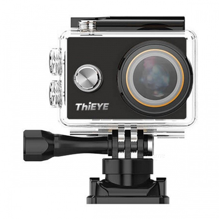 ThiEYE V5 2.3K Action Camera - BlackCamcorders<br>Form  ColorBlackModelV5Shade Of ColorBlackMaterialMetal + plasticQuantity1 DX.PCM.Model.AttributeModel.UnitImage SensorOthers,SONY Exmor R IMX206 CMOS Ambarella A7Anti-ShakeYesFocal DistanceNot specify DX.PCM.Model.AttributeModel.UnitFocusing RangeNot specifyDigital Zoom4XWide Angle170°ApertureF2.5 large apertureEffective Pixels16M / 14M / 12M / 8MMax. Pixels16 DX.PCM.Model.AttributeModel.UnitPicture FormatsJPEGStill Image Resolution16M / 14M / 12M / 8MVideo FormatMP4Video Resolution2.3K@30FPS 1080P@60/30fps 720P@120/60/30fps 480P@240fpsVideo Frame Rate120Cycle RecordYesISOOthers,Auto, 100, 200,400, 800, 1600Exposure CompensationOthers,±2EV (0.33 EV steps)Supports Card TypeTFSupports Max. Capacity64 DX.PCM.Model.AttributeModel.UnitBuilt-in Memory / RAMNoOutput InterfaceOthers,Micro HDMI,Support WiFi and Bluetooth, HDMI (D Type), Mini USB 2.0LCD ScreenYesScreen TypeOthers,LCDScreen Size2 DX.PCM.Model.AttributeModel.UnitScreen Resolution16:9Battery included or notYesBattery Measured Capacity 1180 DX.PCM.Model.AttributeModel.UnitNominal Capacity1180 DX.PCM.Model.AttributeModel.UnitBattery TypeLi-ion batteryBattery Quantity1 DX.PCM.Model.AttributeModel.UnitWaterproofYesSupported LanguagesEnglish,French,German,Italian,Spanish,Japanese,Korean,Simplified Chinese,Traditional ChineseCertificationIP68Packing List1 x V5 Action Camera1 x UV filter1 x Wiper1 x 1180mAh Battery1 x USB cable1 x English user manual<br>