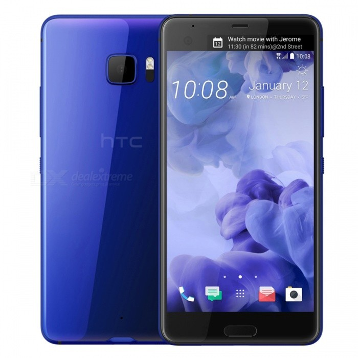 HTC U Ultra U-1u Dual SIM Phone w/ 4GB RAM, 64GB ROM - BlueAndroid Phones<br>Form ColorBlueRAM4GBROM64GBBrandHTCModelU-1uQuantity1 setMaterialAluminum AlloyShade Of ColorBlueTypeBrand NewPower AdapterUK PlugHousing Case MaterialAluminum AlloyTime of Release2017Network Type2G,3G,4GBand DetailsGSM 850 / 900 / 1800 / 1900, UMTS850 (B5), UMTS900 (B8), UMTS1700/2100 (B4), UMTS1900 (B2), UMTS2100 (B1), LTE2100 (B1), LTE850 (B5), LTE1700/2100 (B4), LTE1800 (B3), LTE2600 (B7), LTE900 (B8),LTE700 (B17), LTE800 (B20), TD-LTE2500 (B41), TD-LTE2600 (B38), TD-LTE2300 (B40), LTE700 (B28)Data TransferGPRS,HSDPA,EDGE,LTE,HSUPAWLAN Wi-Fi 802.11 a,b,g,n,acSIM Card TypeNano SIMSIM Card Quantity2Network StandbyDual Network StandbyGPSYes,A-GPSNFCYesBluetooth VersionBluetooth V4.2Operating SystemOthers,Google Android 7.0 (Nougat)CPU ProcessorQualcomm Snapdragon 821 MSM8996AB Pro, 2016, 64 bit, quad-core, 32 Kbyte I-Cache, 32 Kbyte D-Cache, 1536 Kbyte L2, 14 nm.CPU Core QuantityQuad-CoreGPUQualcomm Adreno 530LanguageNot SpecifyAvailable Memory64GBMemory CardmicroSDMax. Expansion Supported256GBSize Range5.5 inches &amp; OverTouch Screen TypeCapacitive ScreenScreen Resolution2560*1440Multitouch10Screen Size ( inches)5.7Camera Pixel12.0MPFront Camera Pixels16 MPVideo Recording Resolution3840x2160 pixel, 30 fps;<br>1920x1080 pixel, 30 fps;FlashYesAuto FocusPD AF, Laser AFTouch FocusYesOther Camera FunctionsOIS, HDR photo, HDR video, Red-eye reduction, Slow motion video, Touch focus, Macro mode, Panorama Photo, Face detectionTalk Time26 hoursStandby Time312 hoursBattery Capacity3000 mAhBattery ModeNon-removablefeaturesWi-Fi,GPS,Bluetooth,NFCSensorProximity,Compass,Accelerometer,Fingerprint authentication sensor,Others,Hall sensor, Light sensorWaterproof LevelIPX1I/O InterfaceUSB Type-c,Others,USB 3.1JAVANoTV TunerNoReference Websites== Will this mobile phone work with a certain mobile carrier of yours? ==Packing List1 x Cell Phone1 x Power Adapter1 x USB Charging Cable1 x User Manual<br>