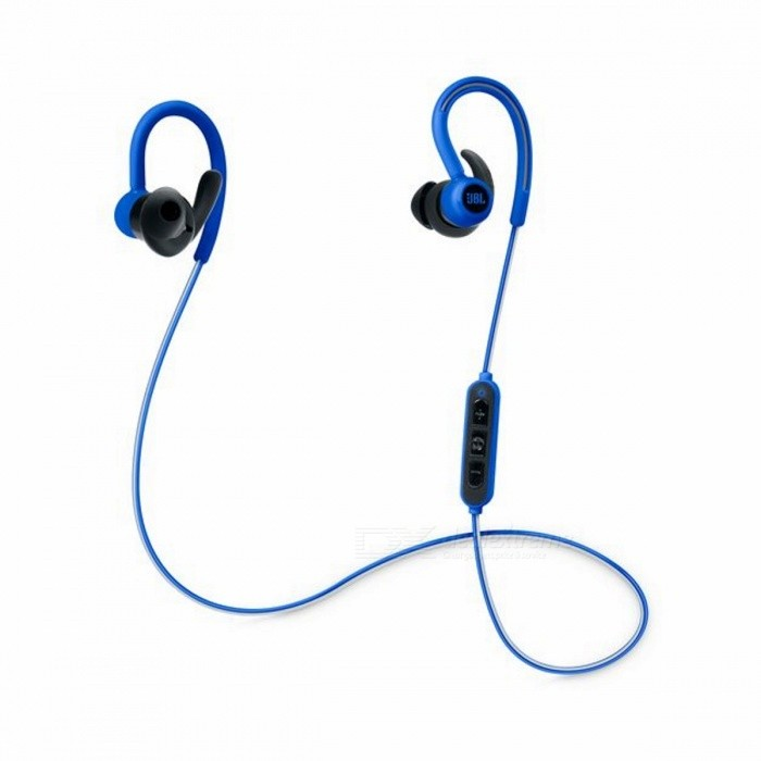 JBL Reflect Contour Bluetooth Wireless Sports Headphones - BlueHeadphones<br>Form ColorBlueBrandJBLModelJBLREFCONTOURBLUMaterialPlasticQuantity1 setConnectionBluetoothBluetooth VersionBluetooth V4.0Operating Range2.402~2.480GHzHeadphone StyleIn-Ear,Ear-hookWaterproof LevelIPX5Applicable ProductsOthers,Bluetooth enabled devicesHeadphone FeaturesLong Time Standby,Volume Control,With Microphone,Lightweight,For Sports &amp; ExerciseSupport Memory CardNoSupport Apt-XNoFrequency Response10Hz to 22kHzDriver UnitPremium 5.8mm Dynamic DriverBattery TypeLi-ion batteryBuilt-in Battery Capacity 60 mAhMusic Play Time8 hoursPower AdapterUSBPacking List1 x Pair of sport headphones1 x 3 button in-line control3 x Sets of sport ear tips (small, medium, and large)1 x Quick Start Guide1 x Safety sheet<br>
